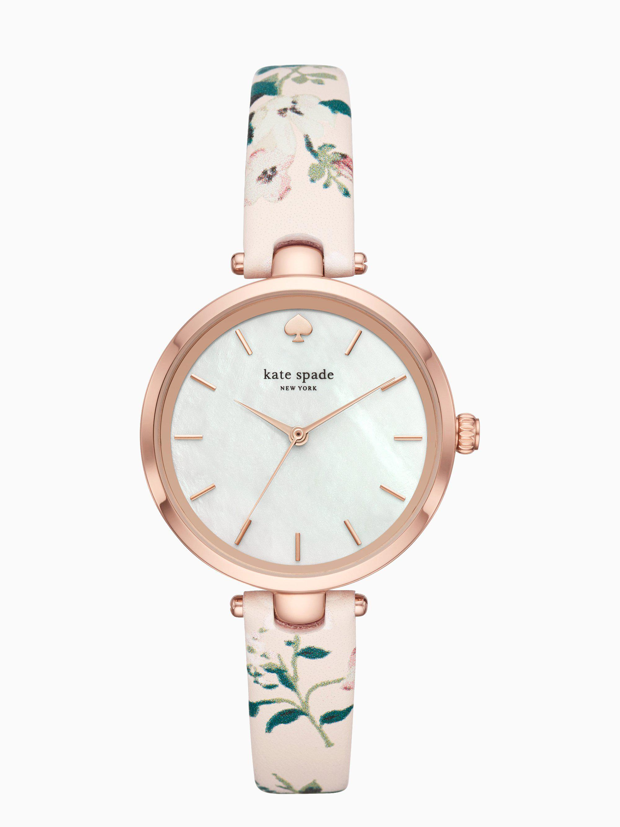 295a480fcfa Kate Spade - Multicolor Holland Floral Leather Watch - Lyst. View fullscreen