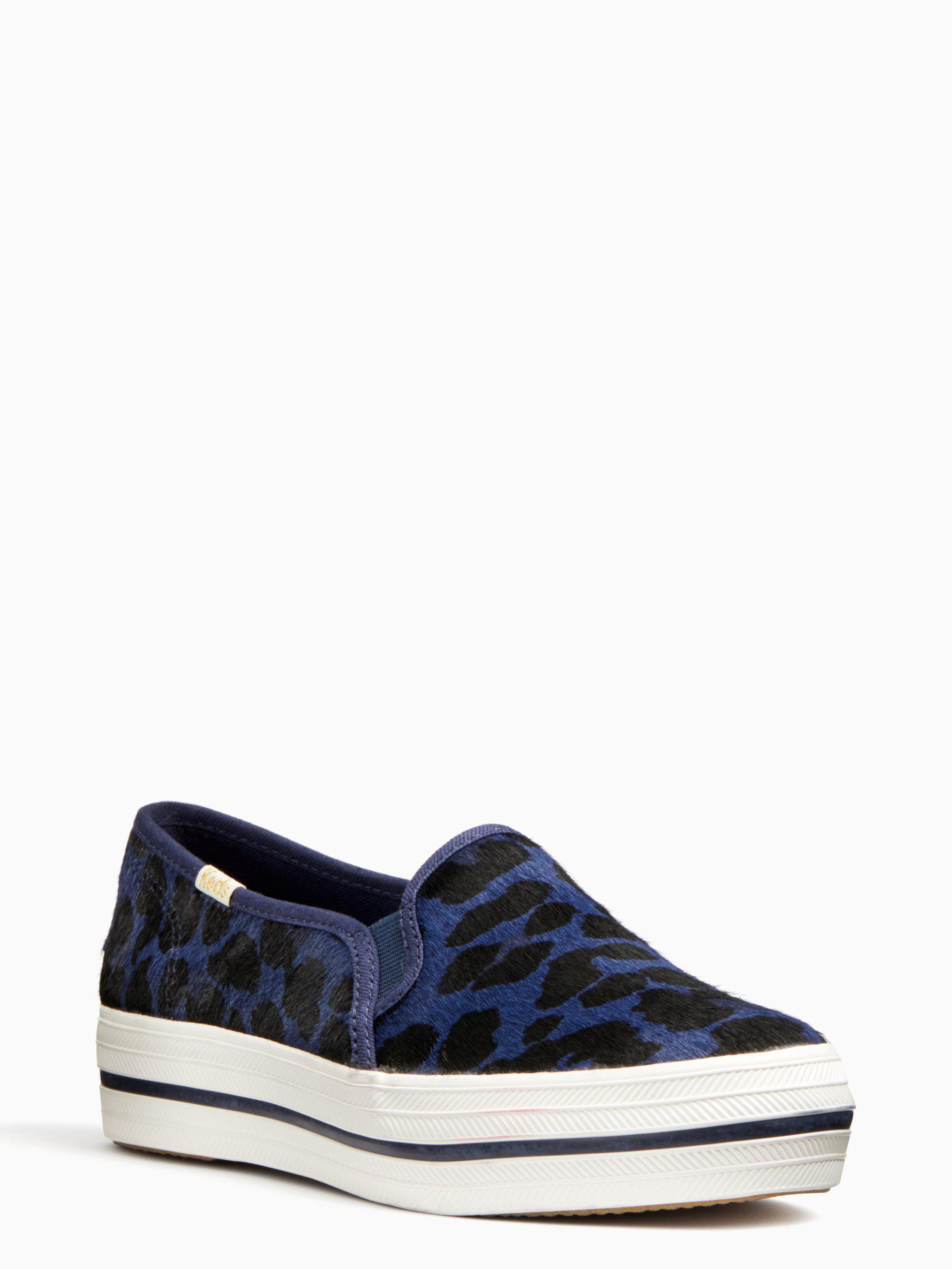 259c1360fd71 Lyst - Kate Spade Keds X New York Triple Decker Leopard Sneakers in ...