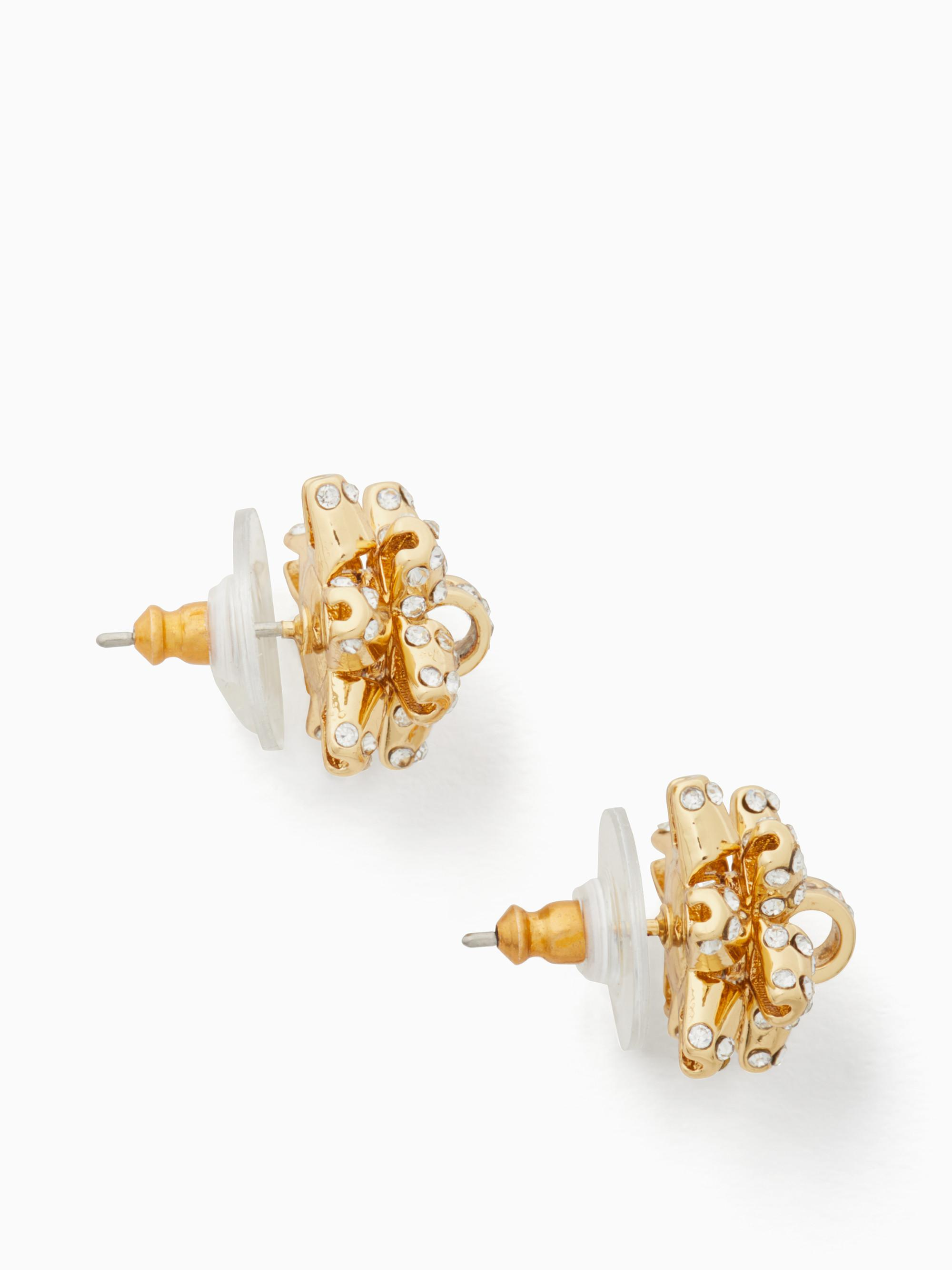 Kate Spade Bourgeois Bow Earrings   www.topsimages.com