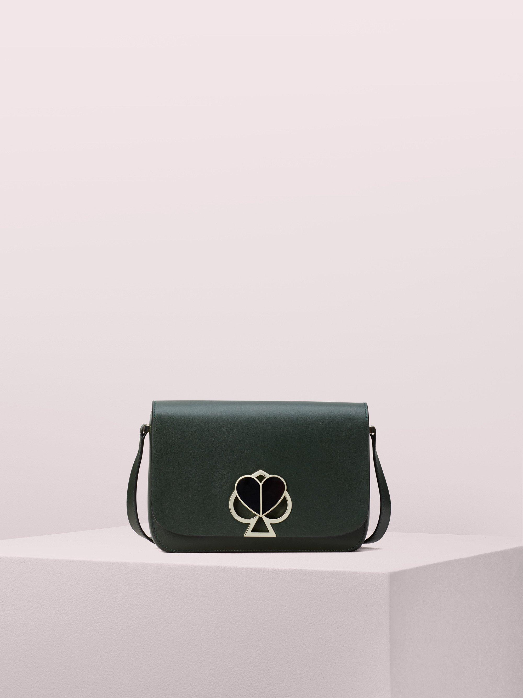 78f13c0e7d12 Kate Spade Nicola Twistlock Medium Shoulder Bag in Green - Lyst