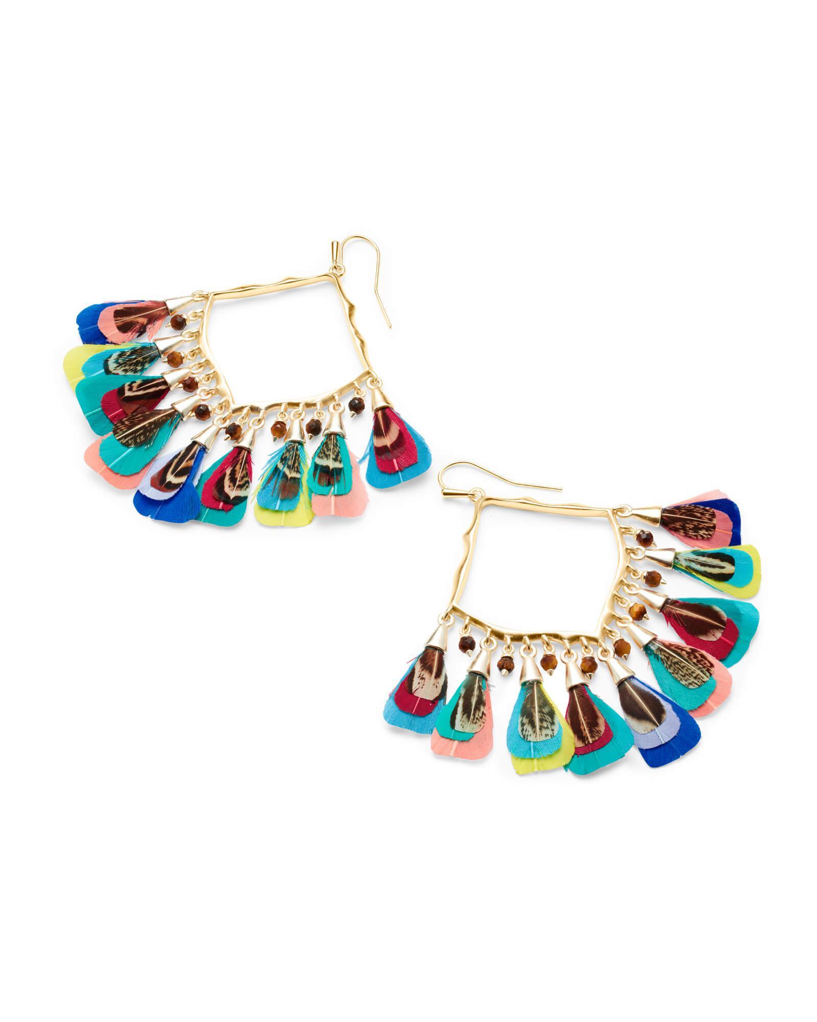 ca34c6866 Lyst - Kendra Scott Raven Gold Drop Earrings in Blue