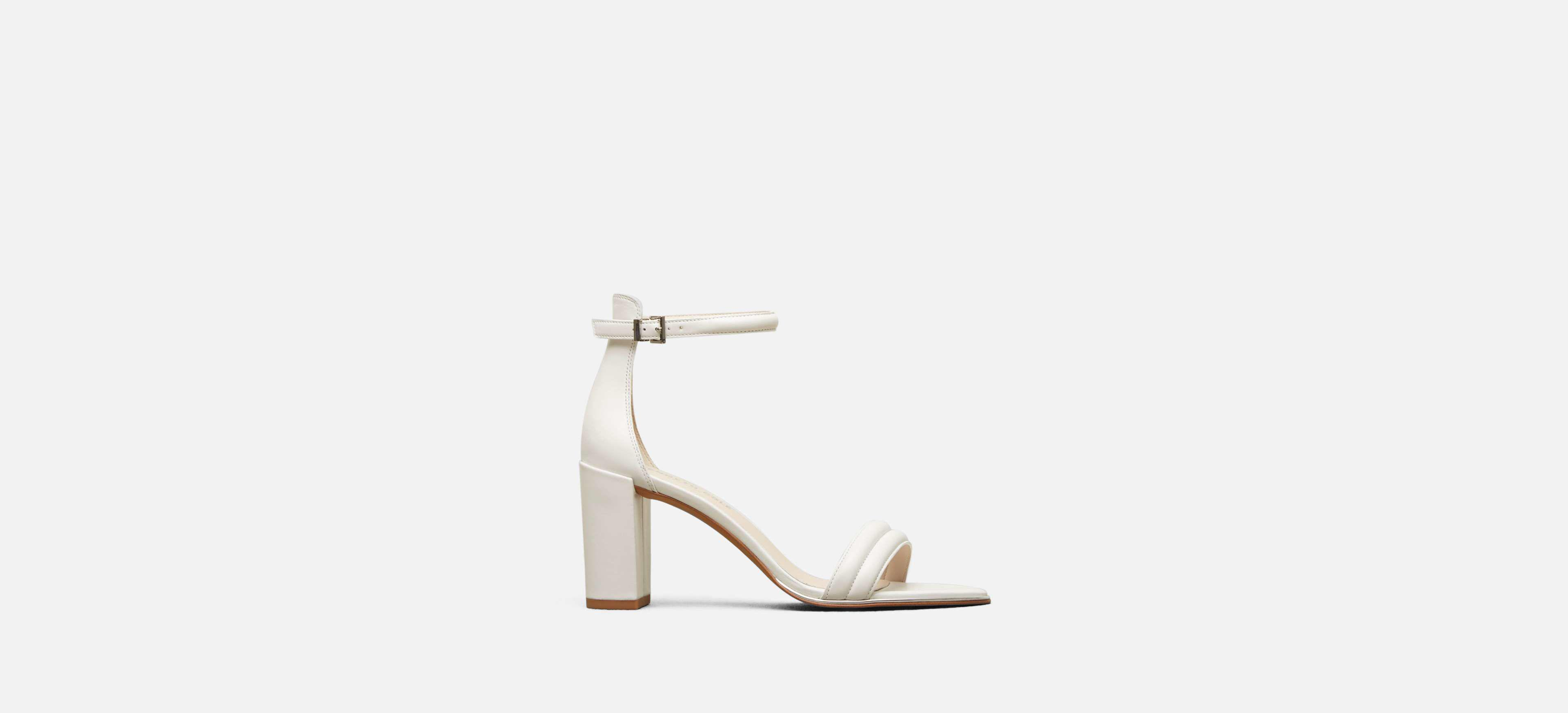 3883a42cd56 Lyst - Kenneth Cole Lex Ankle Strap Sandal Heel in White