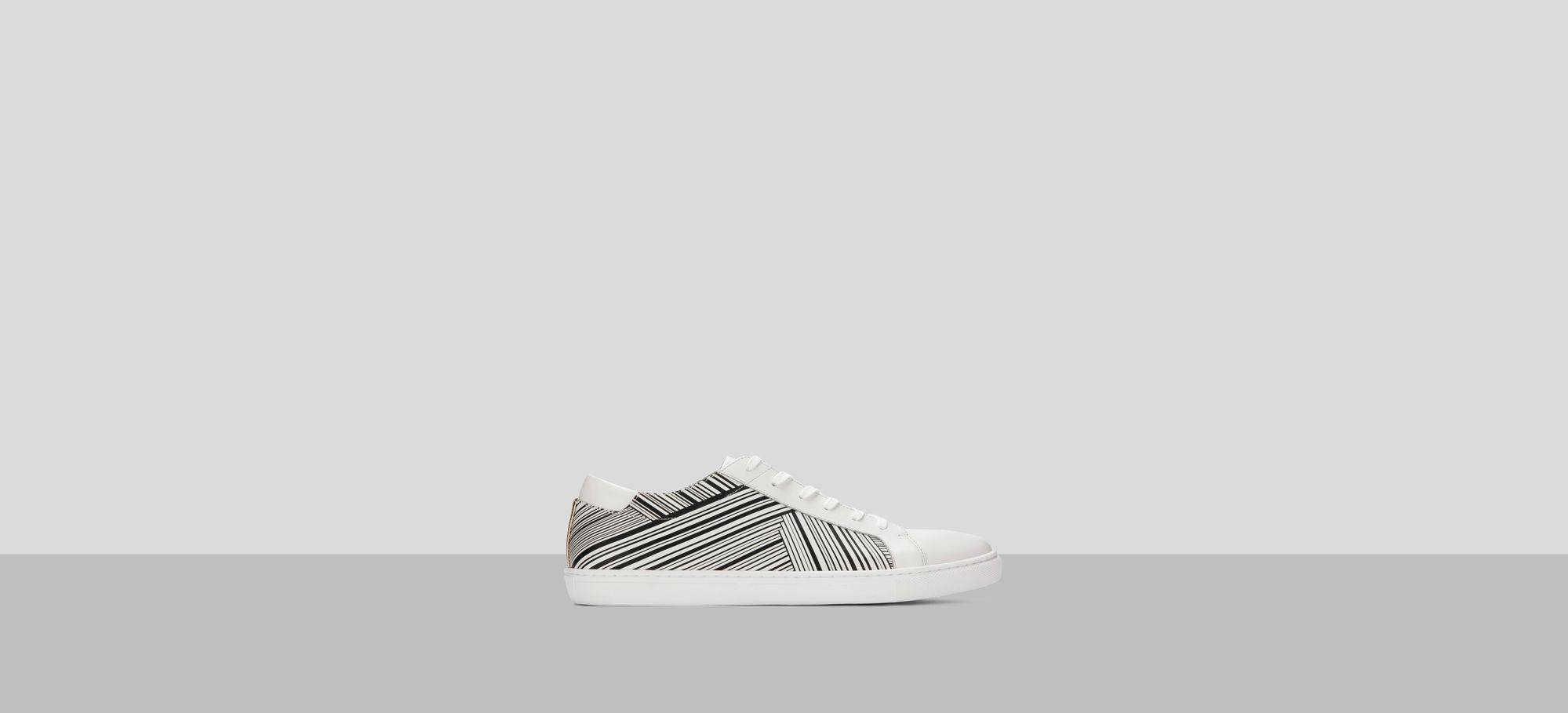 Mens Kam Stripes Leather Sneaker Kenneth Cole