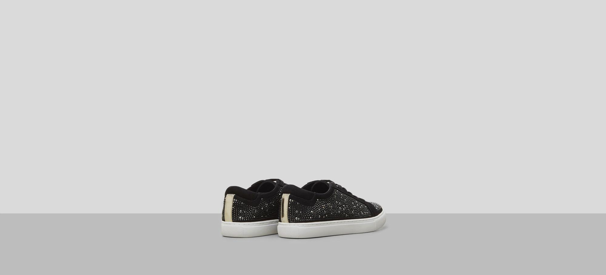 Womens Kam Swarovski Crystal Suede Sneaker Kenneth Cole