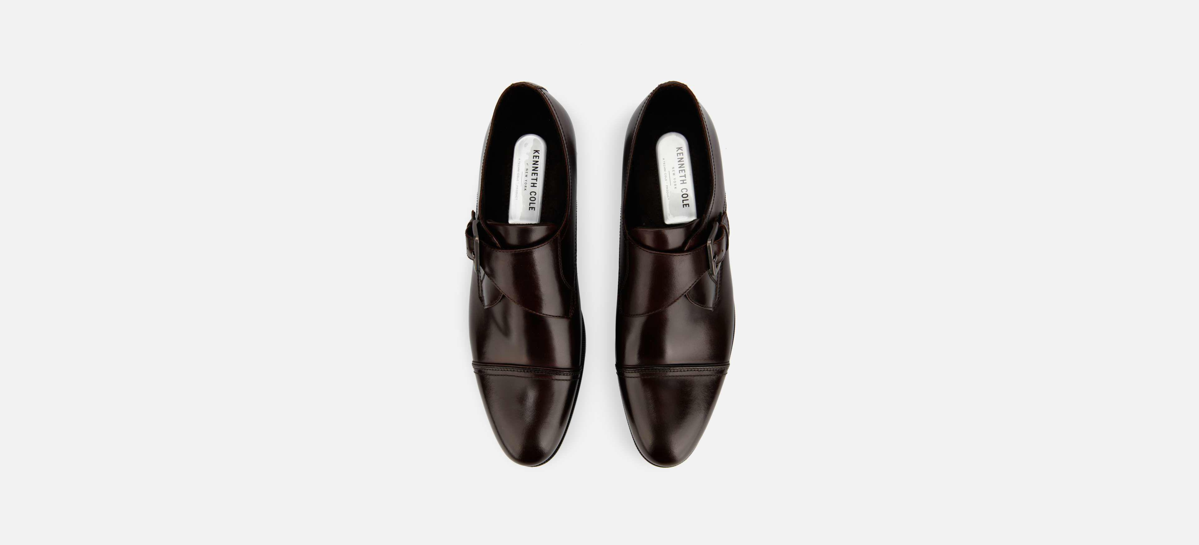 a9f488c3a4d1 Lyst - Kenneth Cole Capital Monk Strap Shoe In Waxed Leather in ...