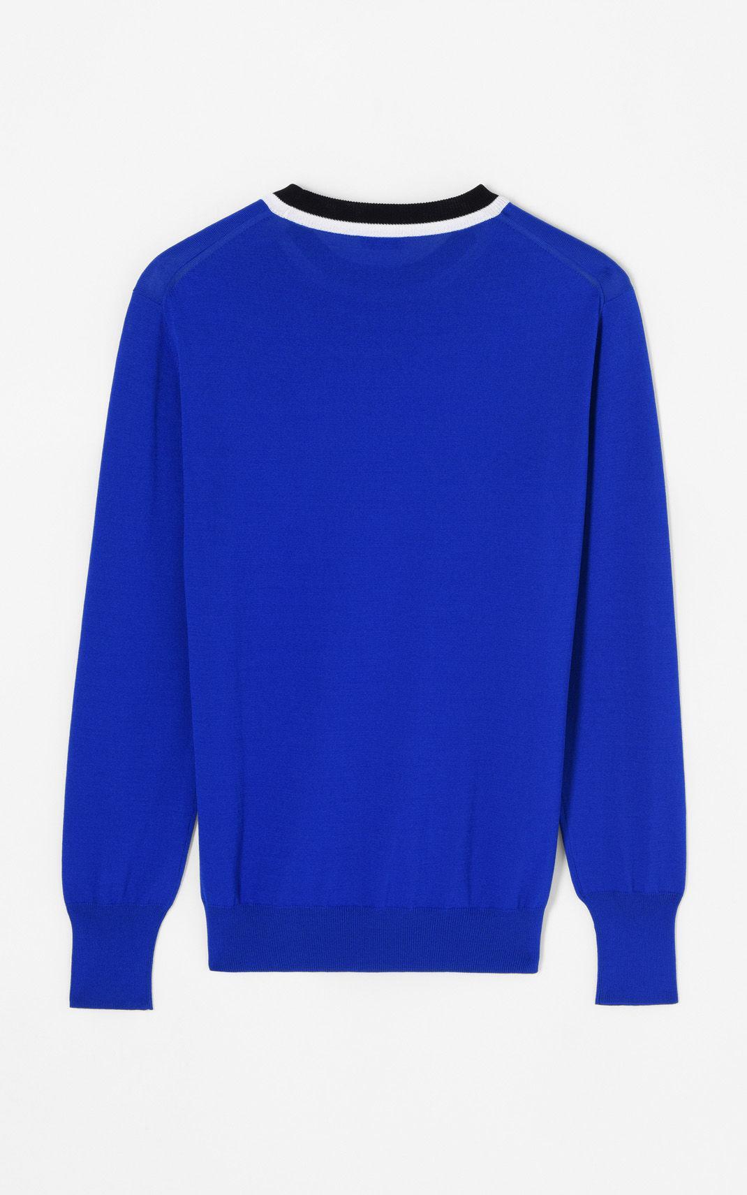 5768ff6bdd30d Lyst - Kenzo Colourblock Jumper in Blue for Men