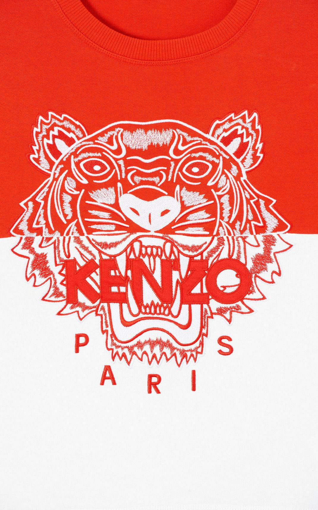 6730a967ce633 KENZO 'colorblock Tiger' Sweatshirt Medium Red in Red - Lyst