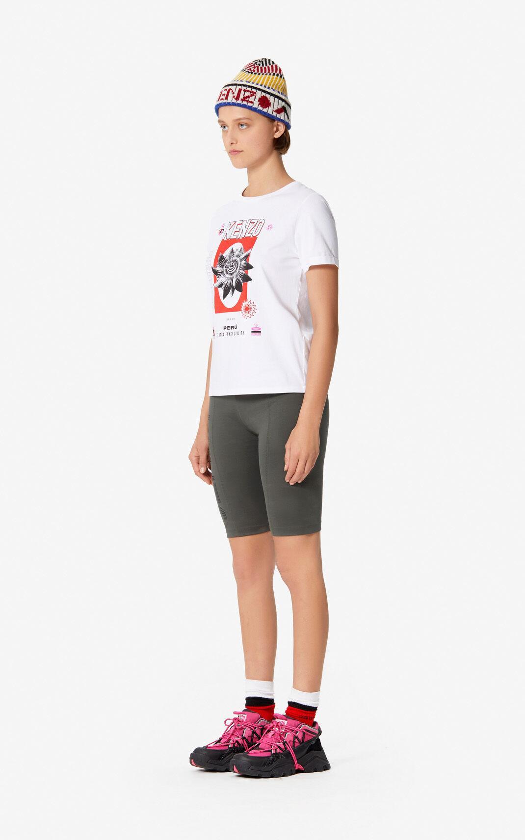 f184d3bdb6f KENZO - 'rice Bags' T-shirt White - Lyst. View fullscreen