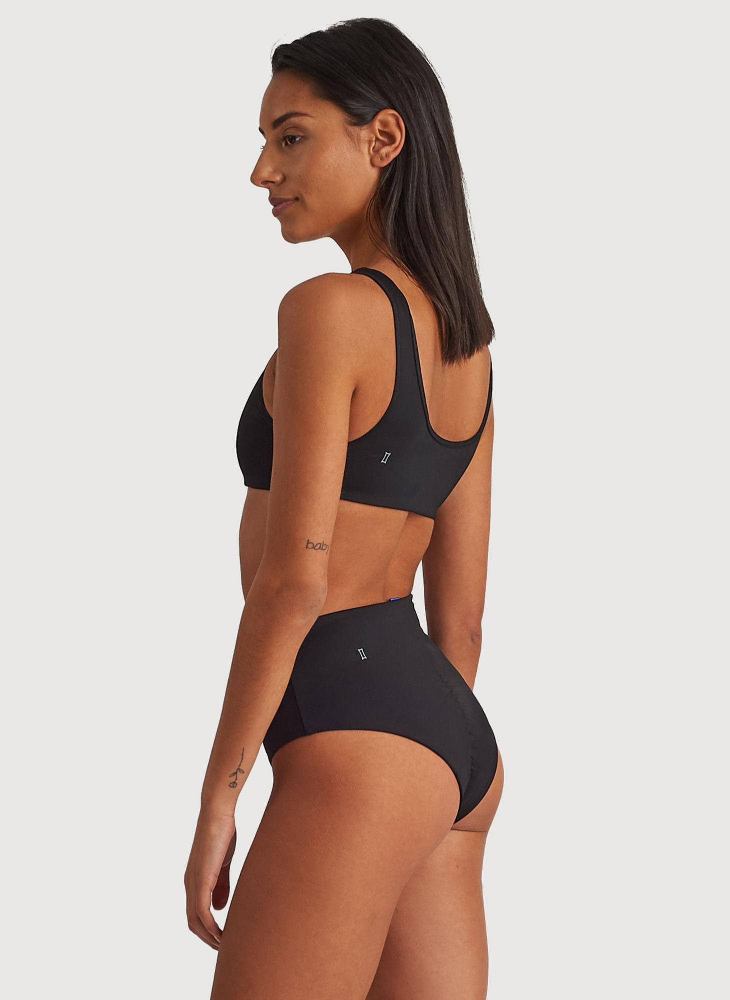 3a16d7d4b25 Kit and Ace - Black High Rise Cheeky Swim Bottom - Lyst. View fullscreen
