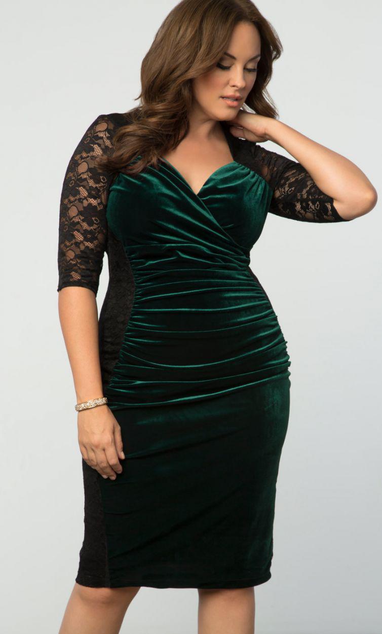 00c7d376b3c Lyst - Kiyonna Hourglass Lace Dress in Black