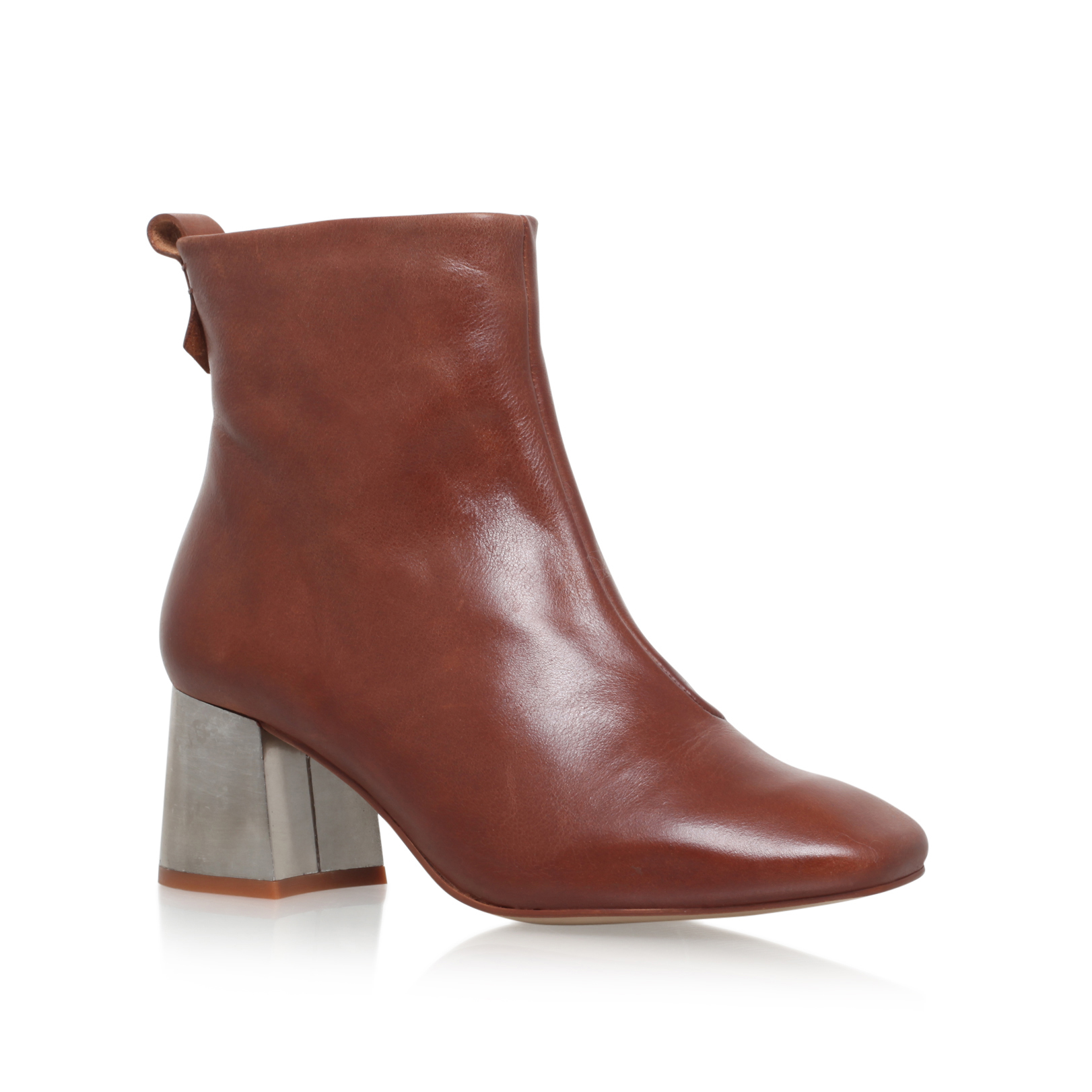 brown high heel ankle boots