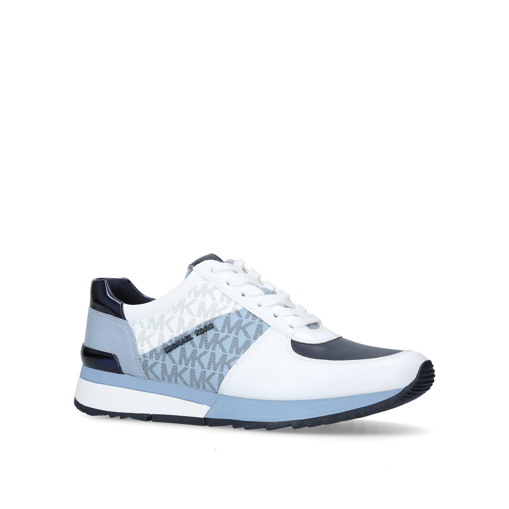 f15b0eee9385 Michael Michael Kors Allie Trainer in Blue - Lyst