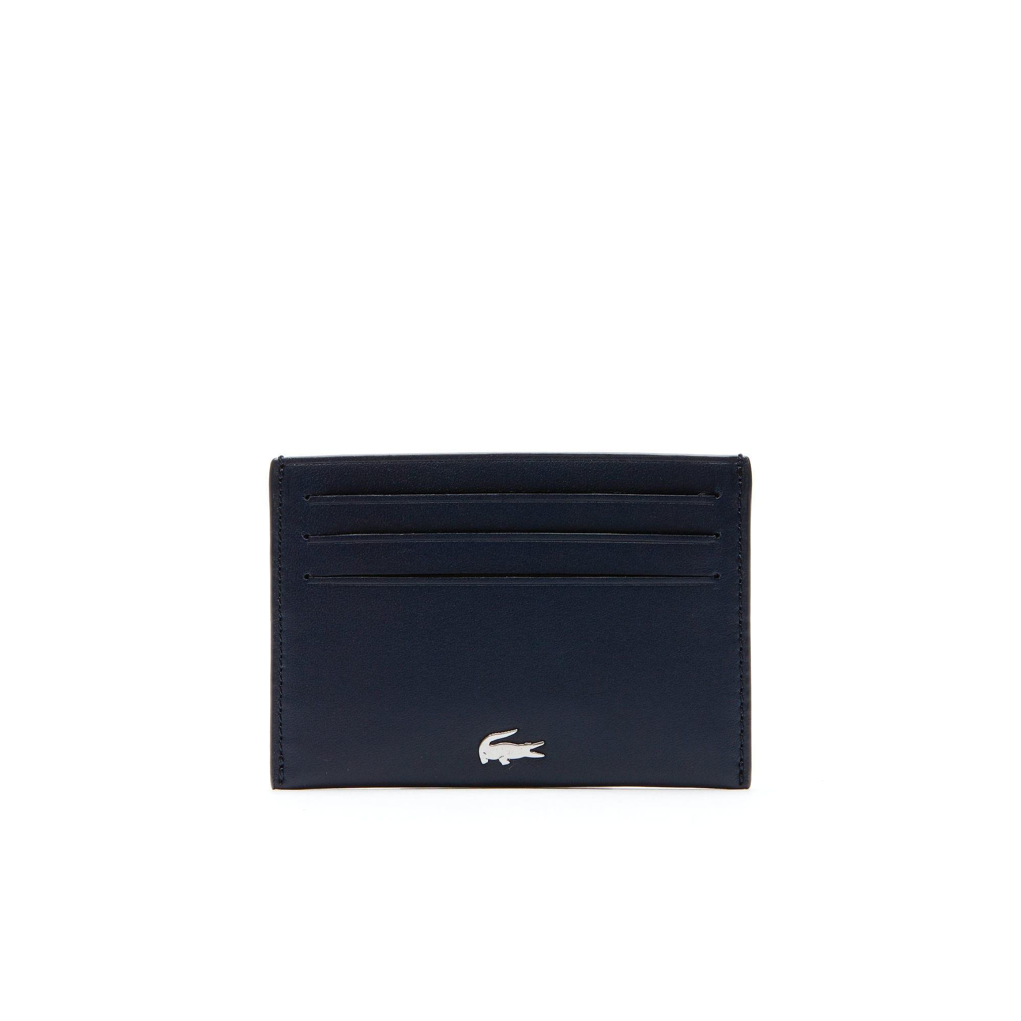 84ee4d53f4 Lacoste Fitzgerald Leather Credit Card Holder in Blue for Men - Lyst