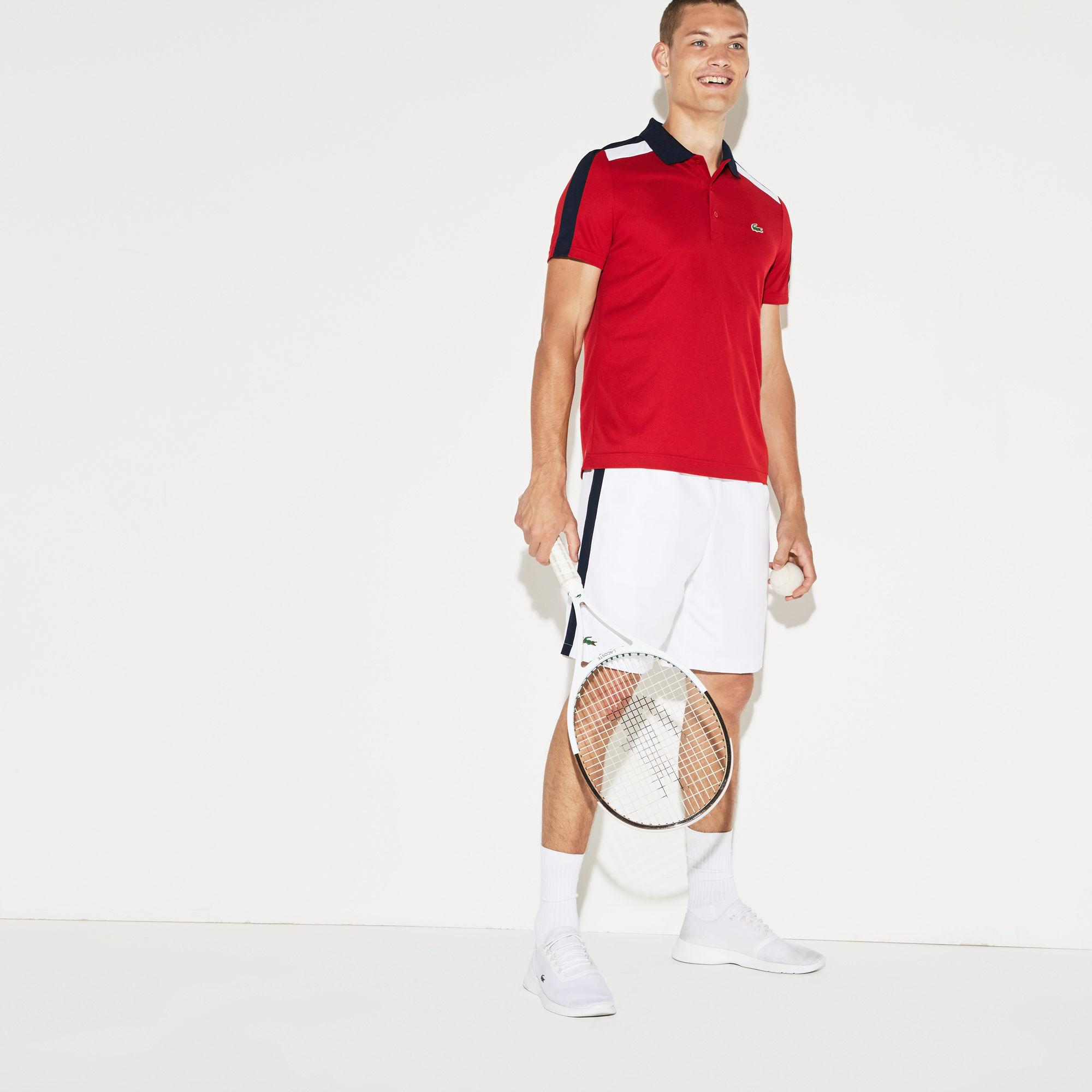 493ebe0a2840 Lyst - Lacoste Sport Colored Bands Taffeta Tennis Shorts for Men