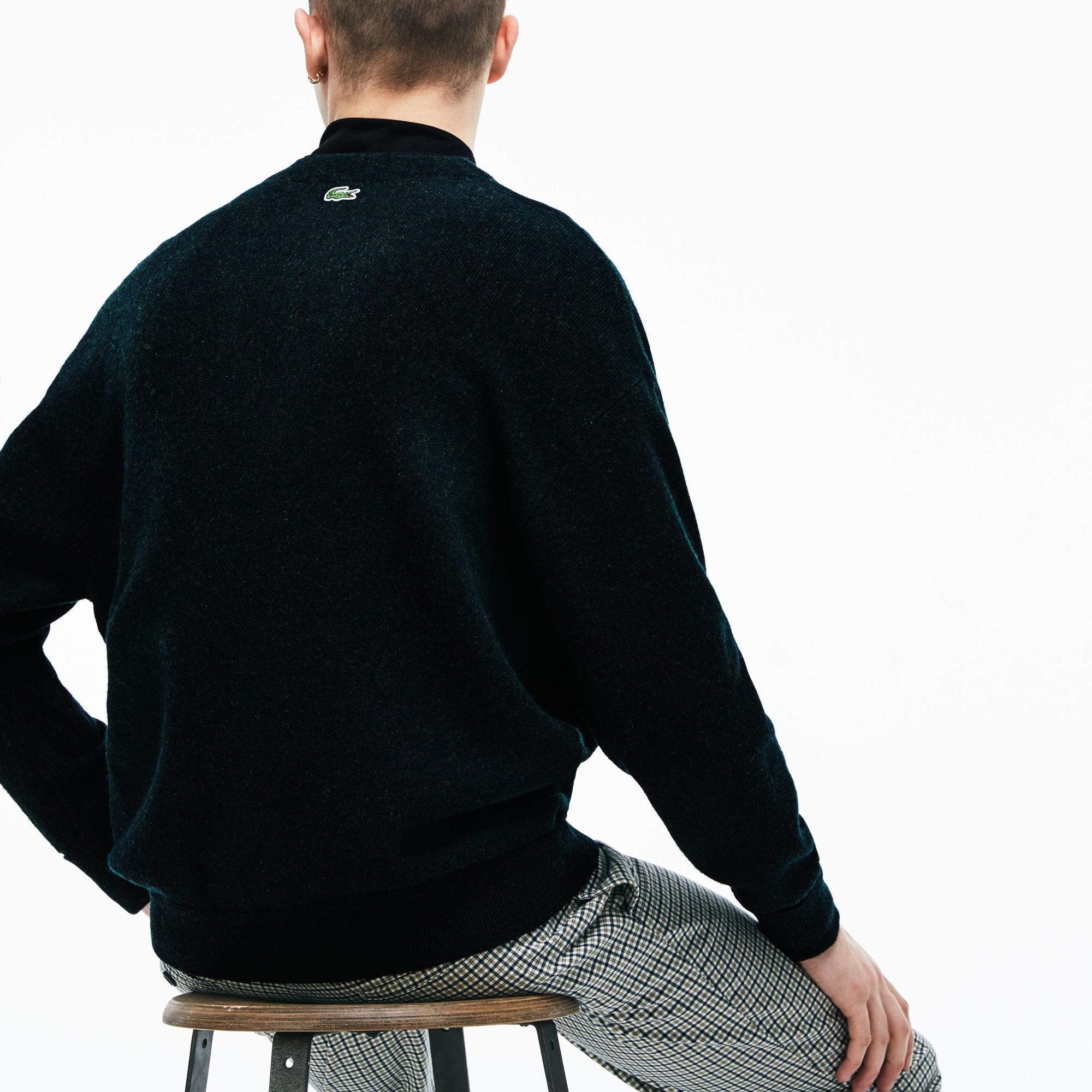 2da8bc037 Lacoste - Green Live Badge Wool Knit Cardigan for Men - Lyst. View  fullscreen