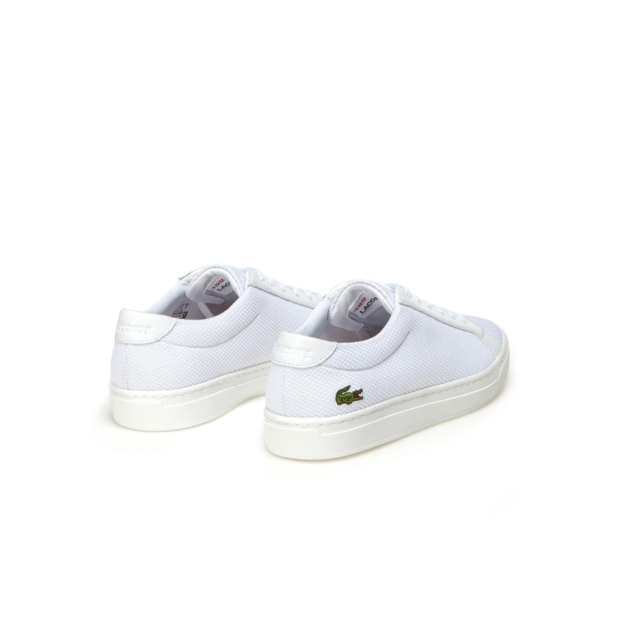 8f3a9aa9cc990 Lacoste - White Children s L.12.12 Bl Textile And Leather Trainers - Lyst.  View fullscreen