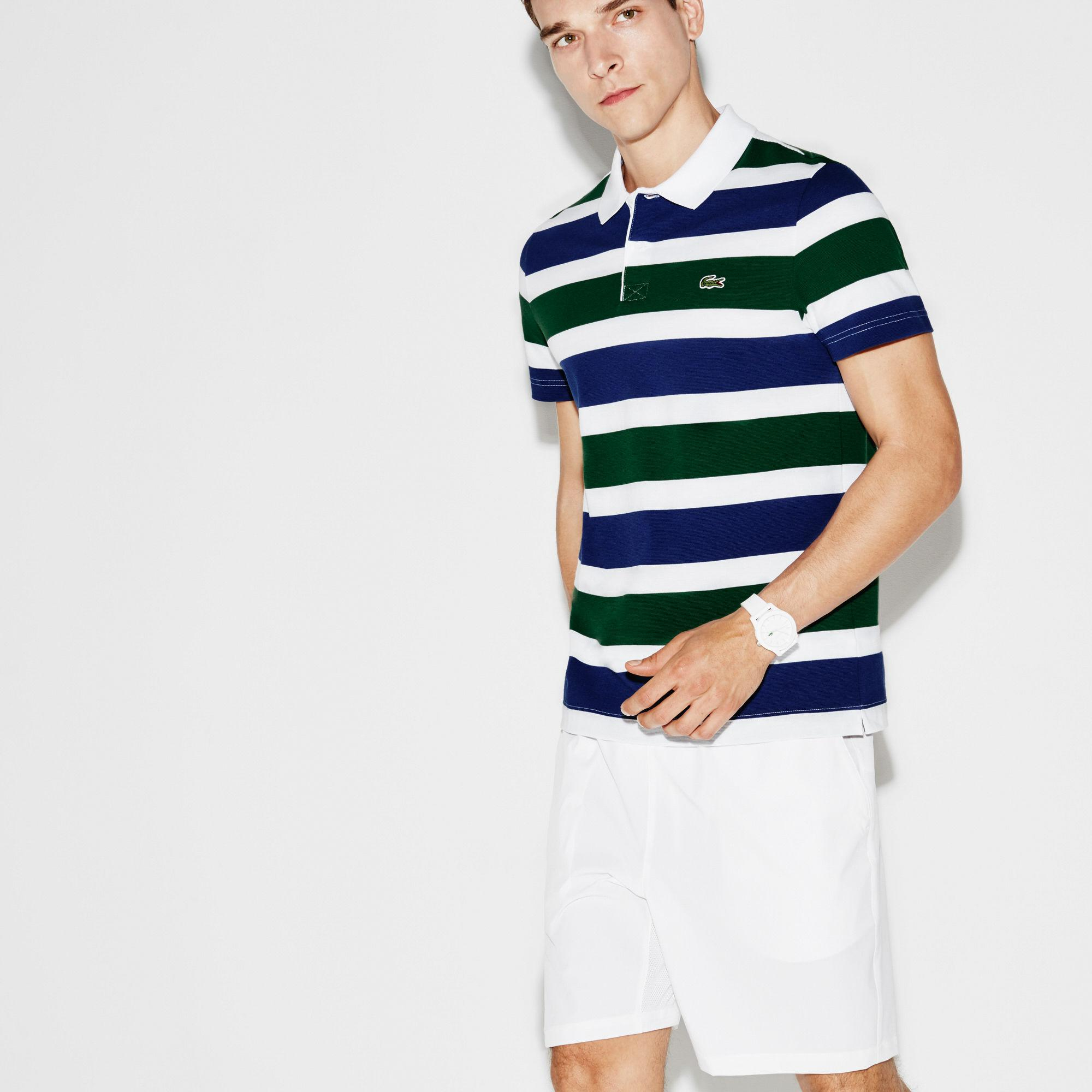 f5688257 Lacoste Sport Tennis Ultra-light Striped Knit Polo for Men - Lyst