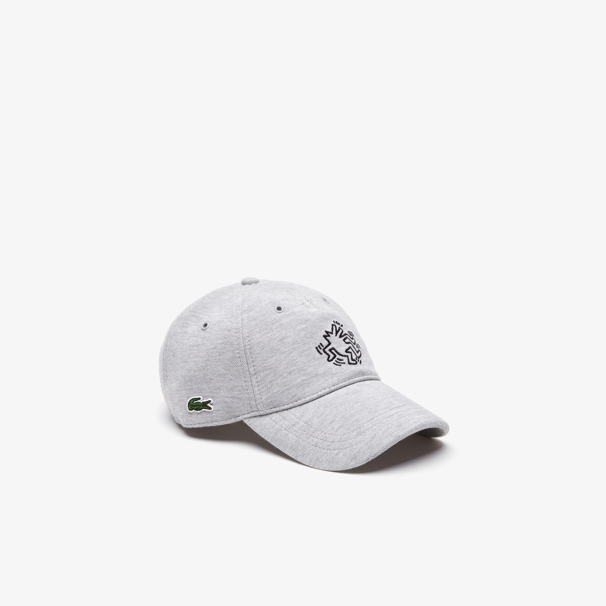 e2ffb8cad80 Lyst - Lacoste Keith Haring Embroidered Cotton Cap in Gray for Men