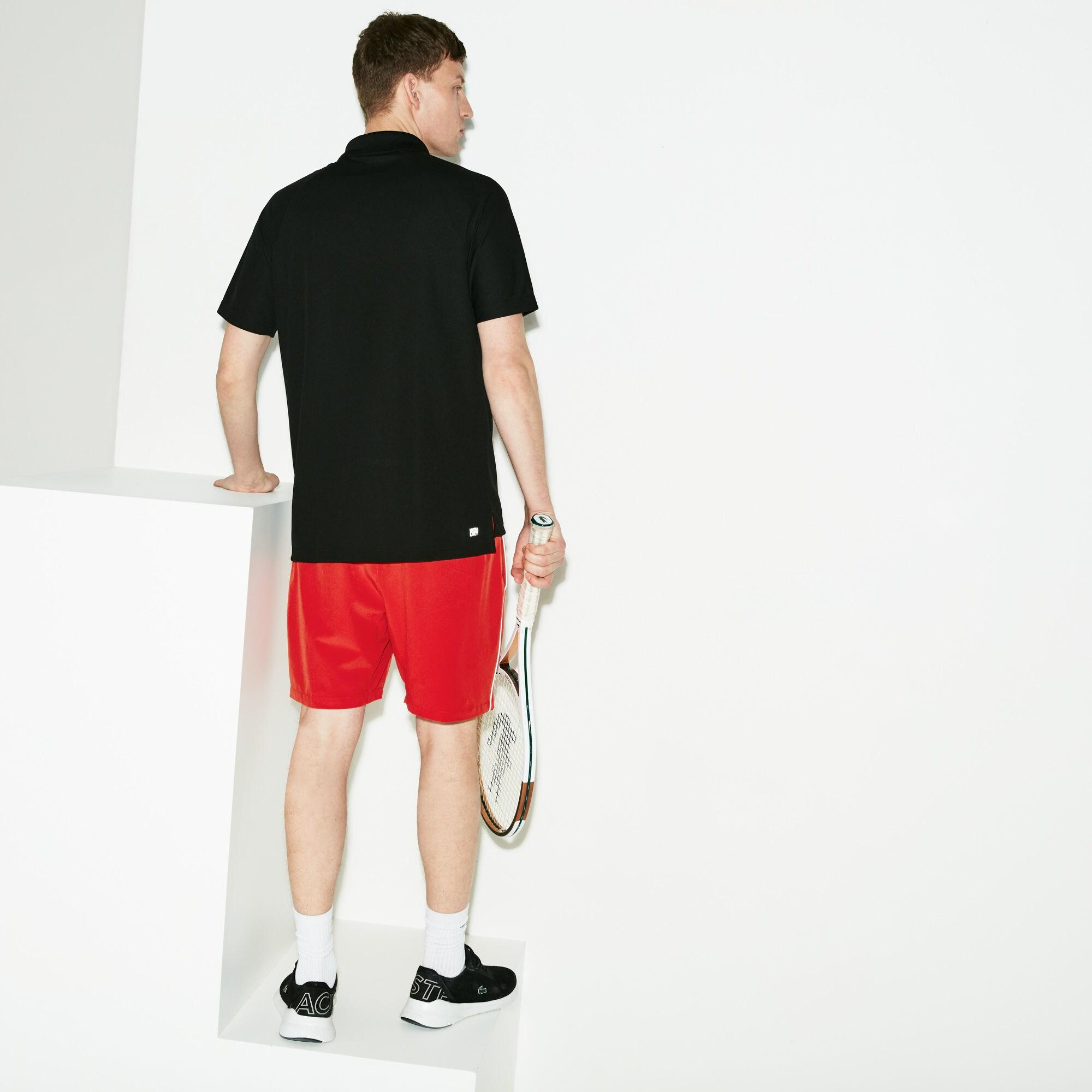 125db4524 Lacoste - Blue Sport Novak Djokovic Support With Style Collection Piped  Stretch Technical Shorts for Men. View fullscreen