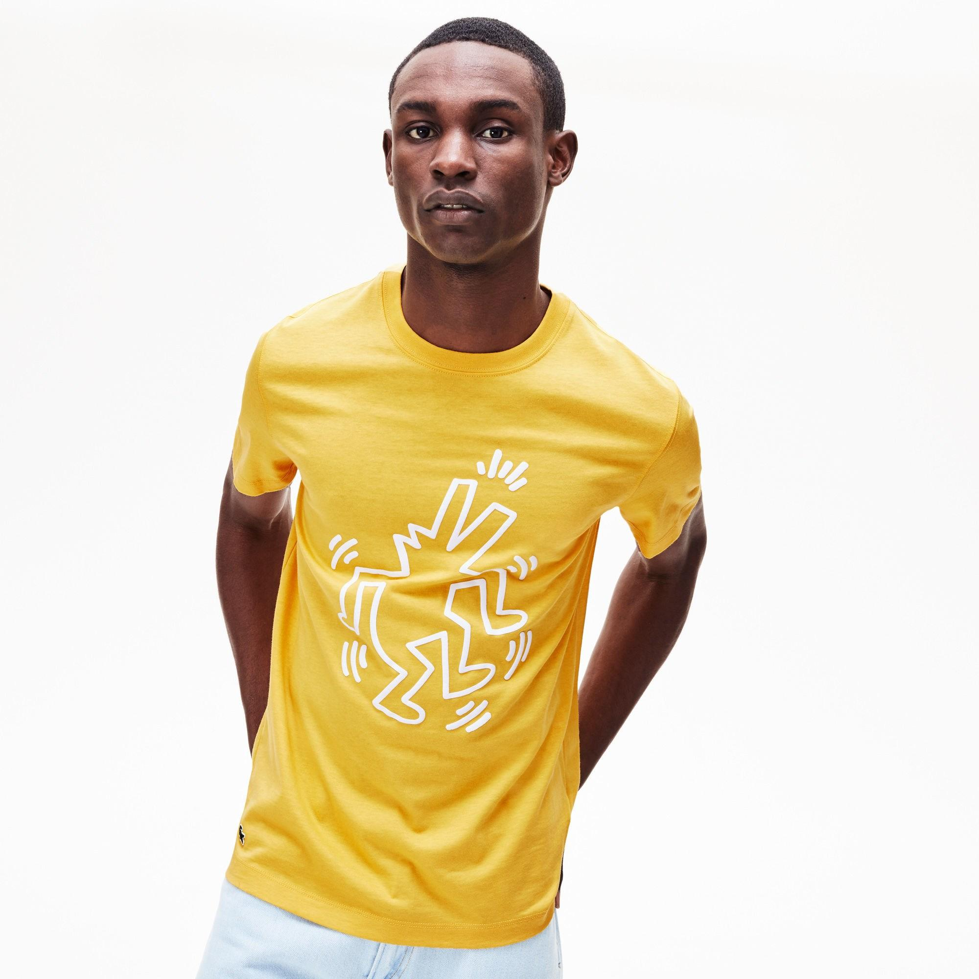 577457d6b4b Lacoste - Yellow Keith Haring Graphic Jersey Tee for Men - Lyst. View  fullscreen
