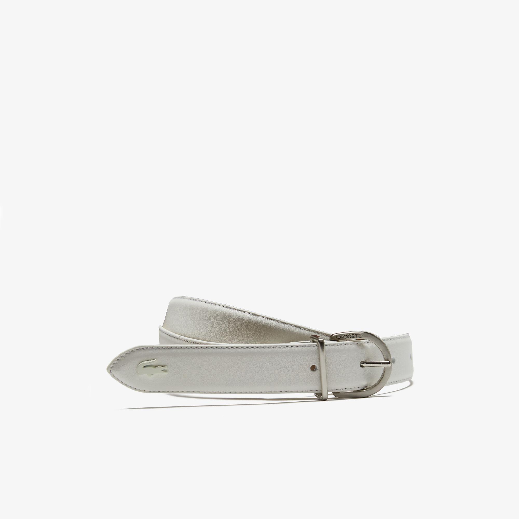 665edfb52fd36 Lacoste. Women s L.12.12 Engraved Tongue Buckle Leather Belt