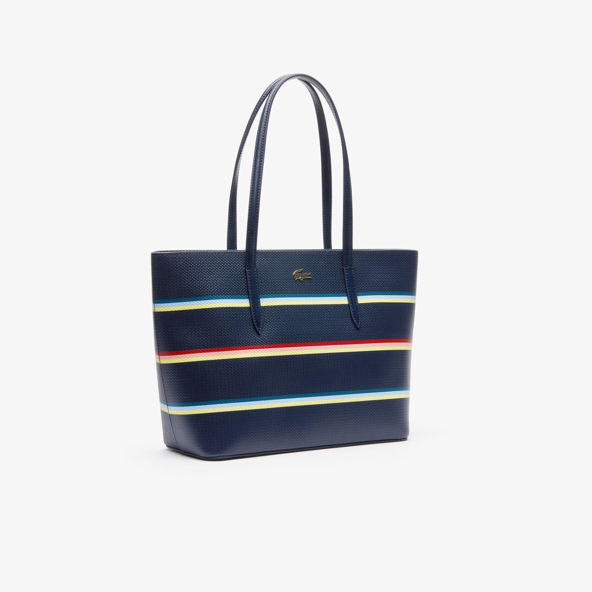 0a59d45248 Lyst - Lacoste Chantaco Leather Tote Bag in Blue