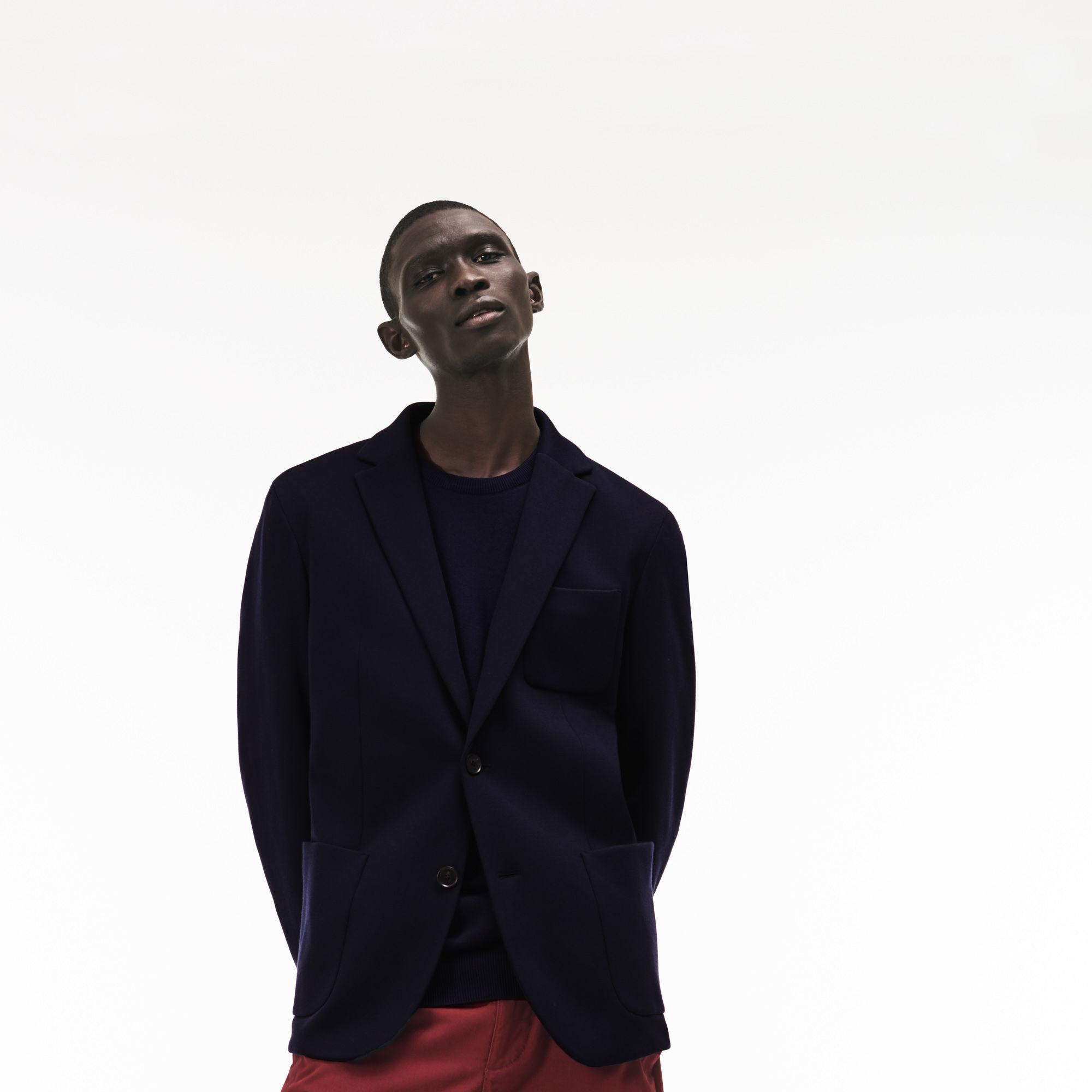 b693e1470b120 Lyst - Lacoste Stretch Cotton Jersey Piqué Blazer in Blue for Men