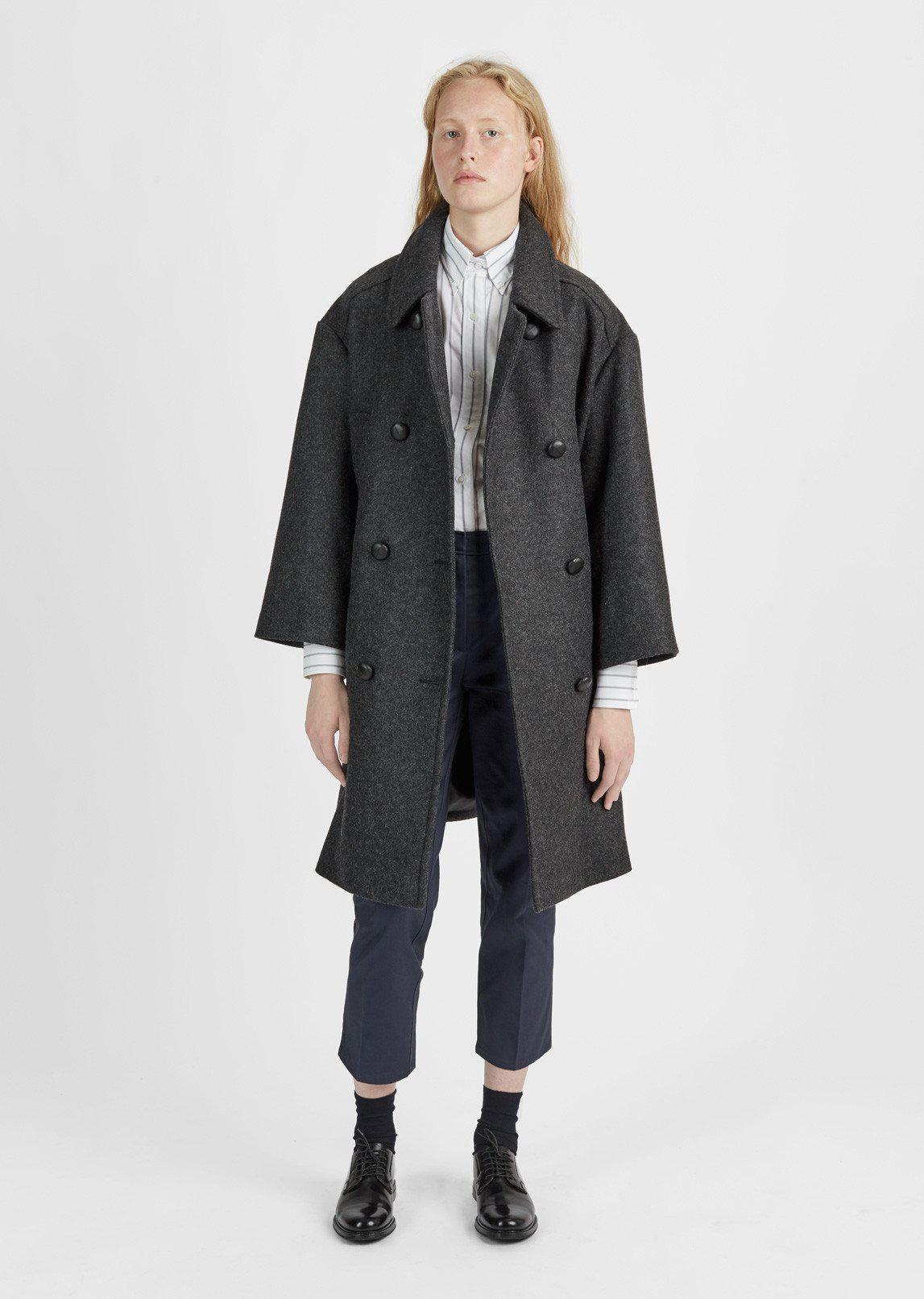 4506c1f7dcb7 Lyst - Étoile Isabel Marant Flicka Long Caban Coat in Black