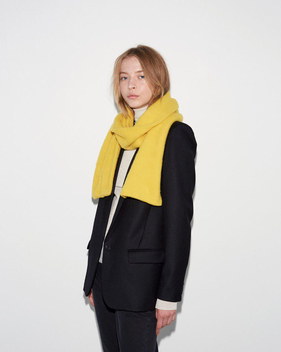 a6393887bf2e4 Jo Gordon Brushed Plain Scarf in Yellow - Lyst
