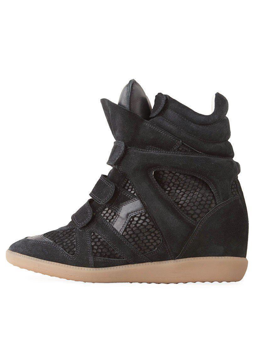 538475ce973e Lyst - Isabel Marant Bazil Hi-top Sneaker in Black