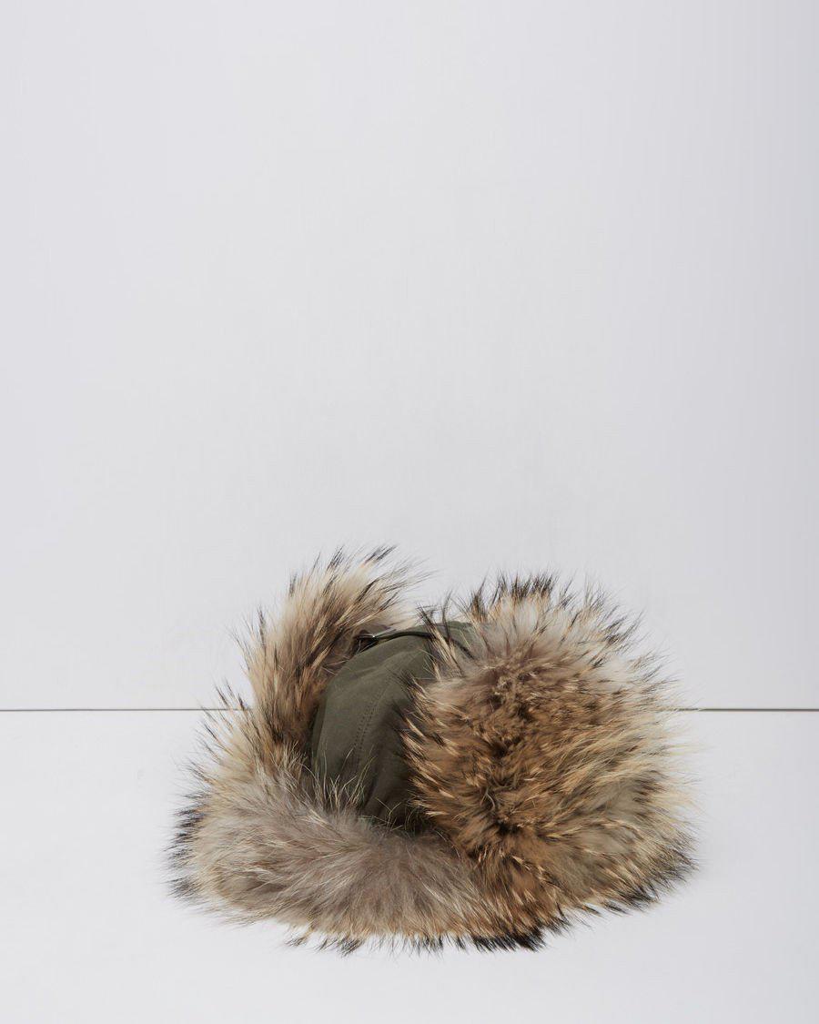 bfc684bbb47 Lyst - Army by Yves Salomon Raccoon Fur Chapka Hat