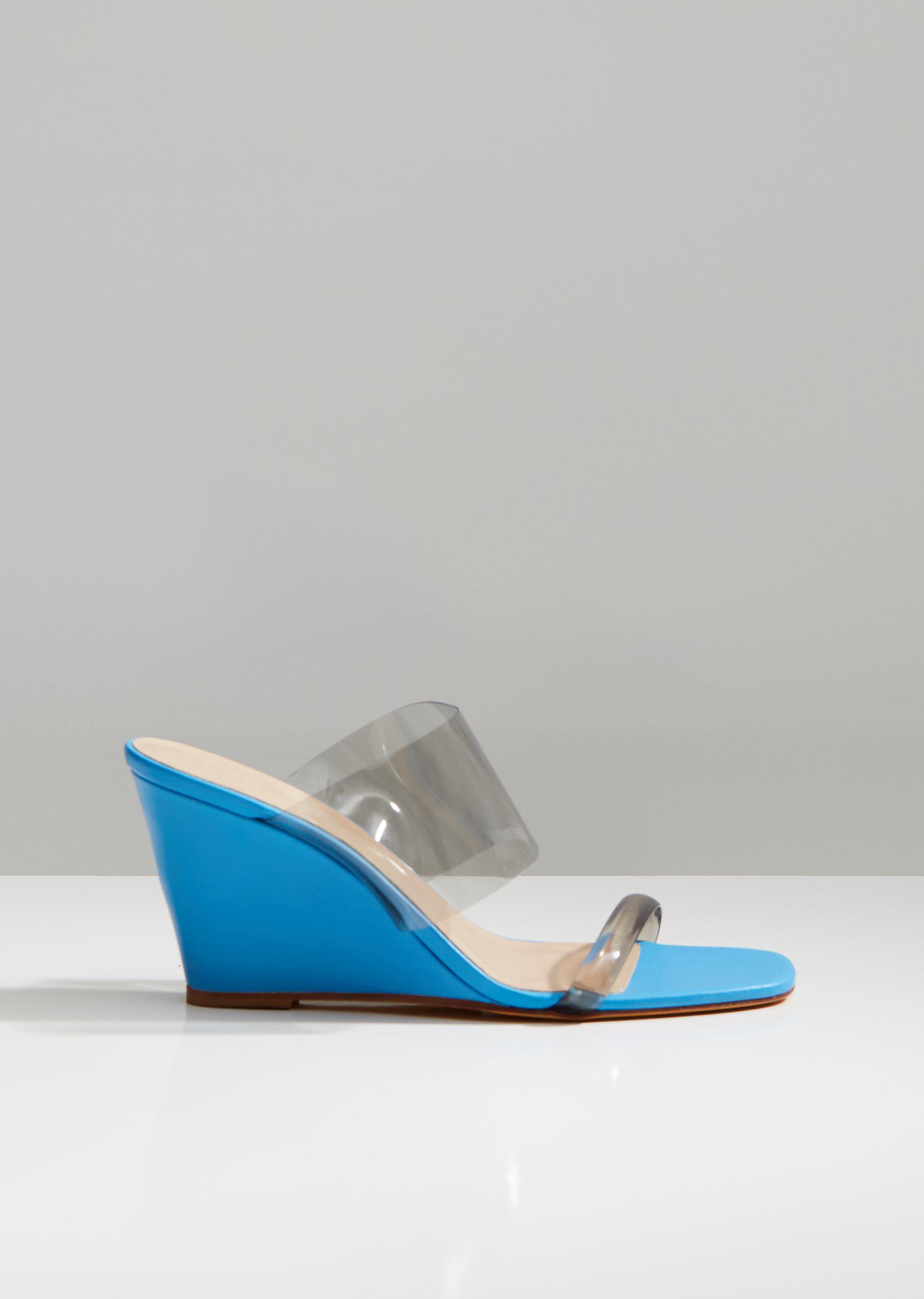 5d1c900d849 Maryam Nassir Zadeh. Women s Blue Olympia Wedge Heels.  452 From La Garçonne