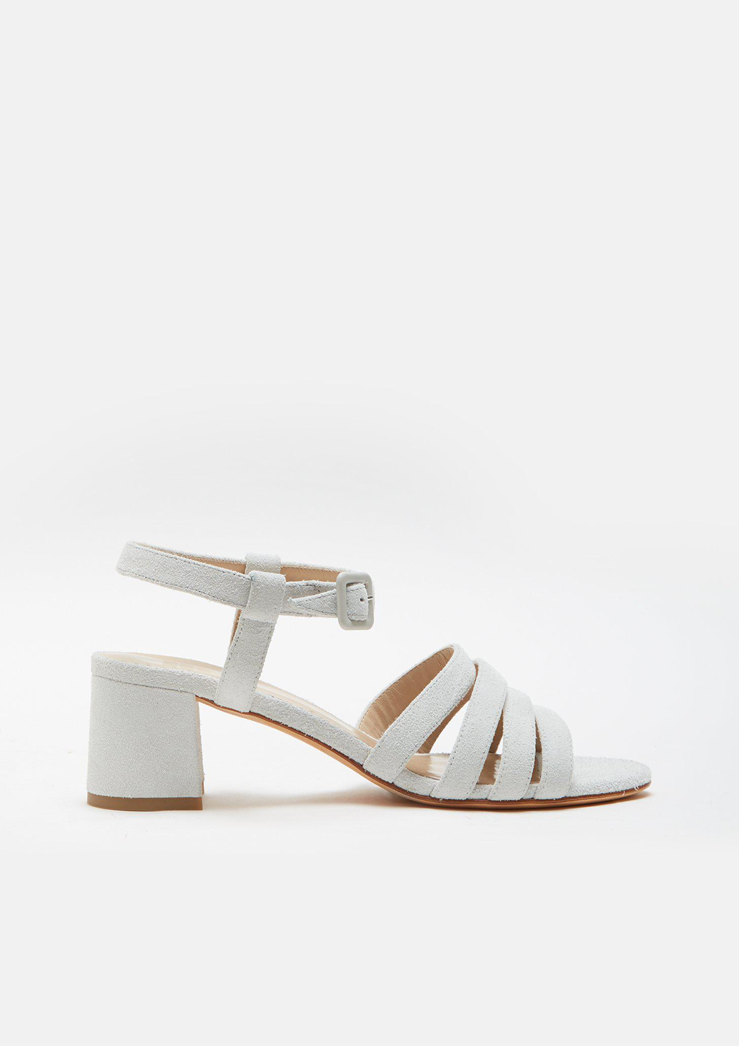 b985f59003d8 Lyst - Maryam Nassir Zadeh Palma Suede Sandal in White