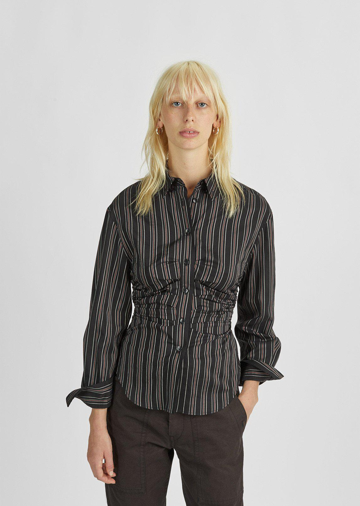 Clearance Inexpensive Isabel Marant Woman Gathered Printed Silk-satin Top Black Size 38 Isabel Marant Clearance Big Discount Cheap Online Many Kinds Of Unisex Zl7EDd7xx