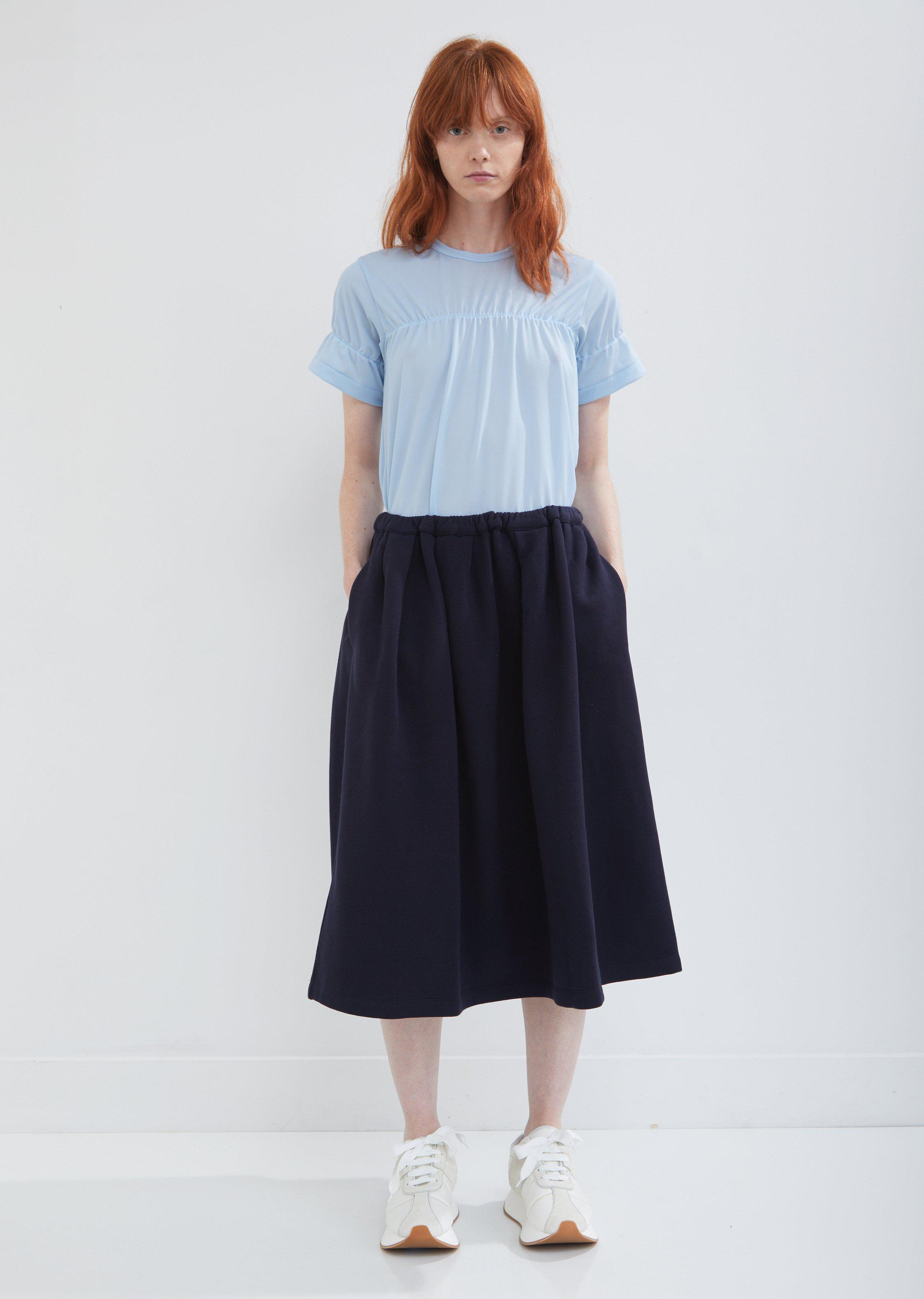 0175a7d7d1 Lyst - Marni Brushed Jersey Pleated Skirt in Blue