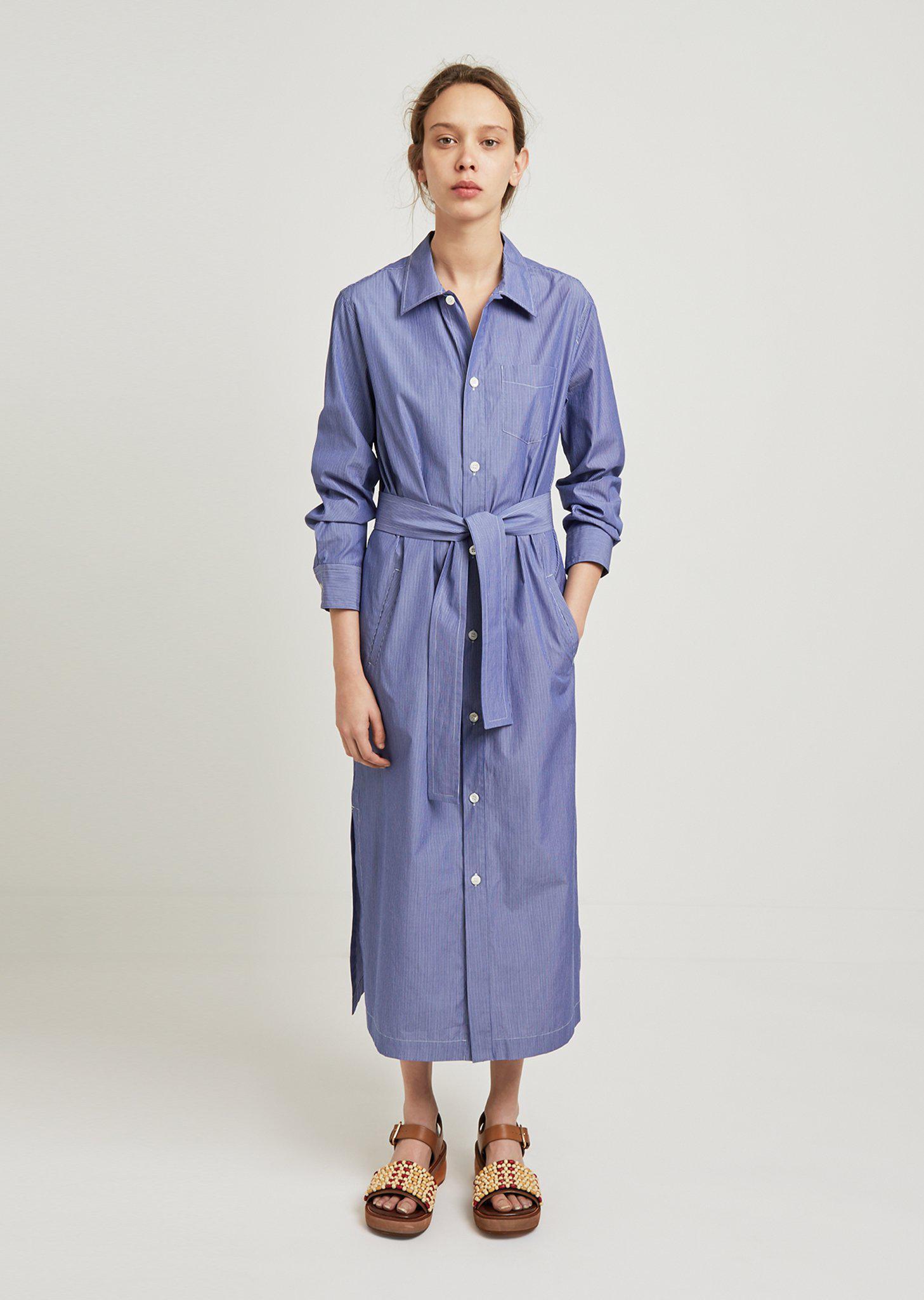 Millie tie-waist striped cotton-poplin dress A.P.C. Sale Geniue Stockist Cheapest Price For Sale 8TPGXdykFA