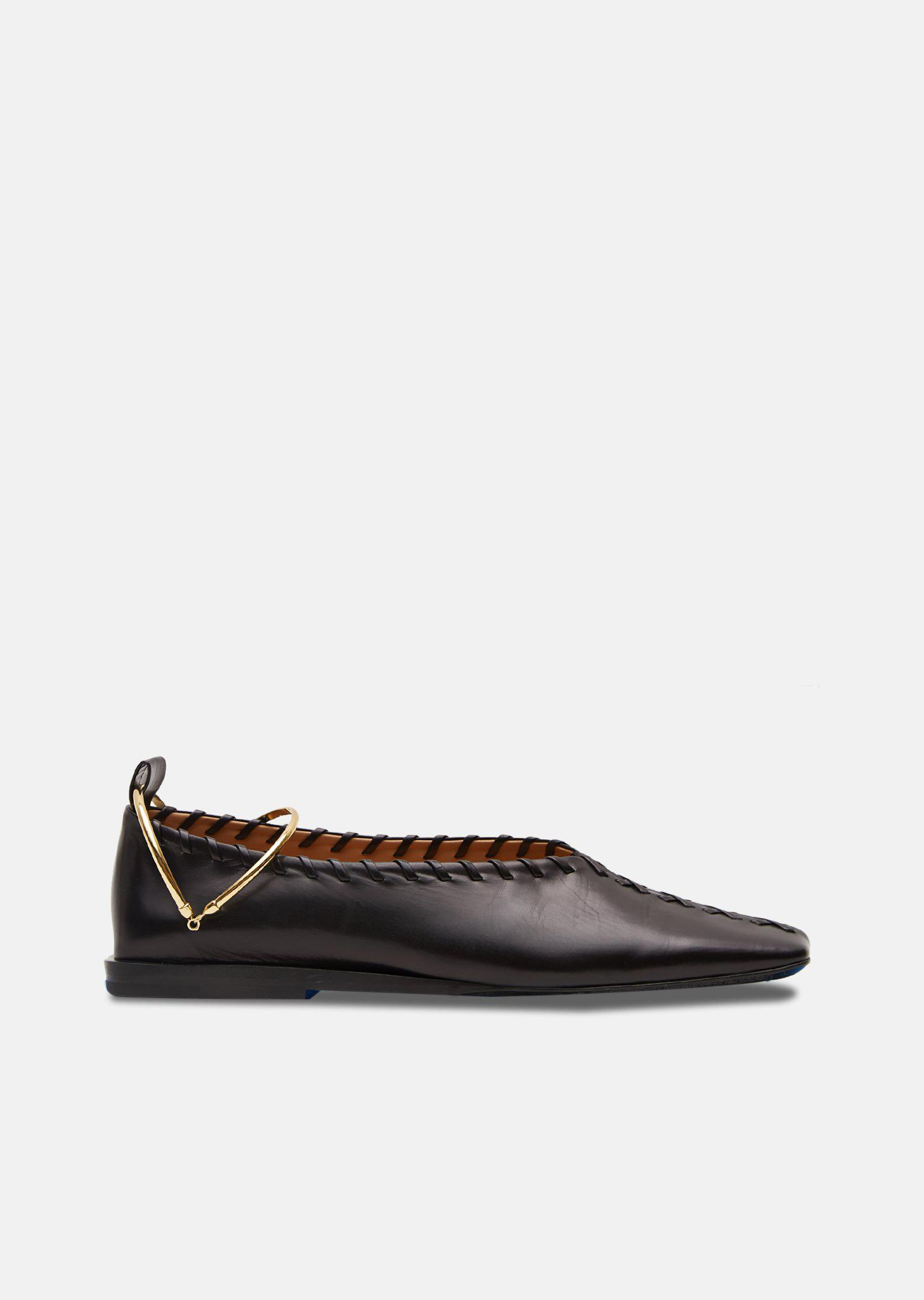 Jil Sander Patent Leather Flats