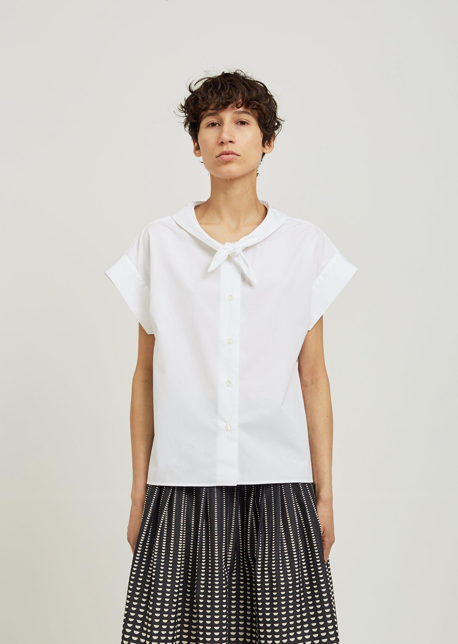 Get New White and Blue Grid Neckerchief Shirt Bless Very Cheap Sale Online Sast For Sale 1e173Z