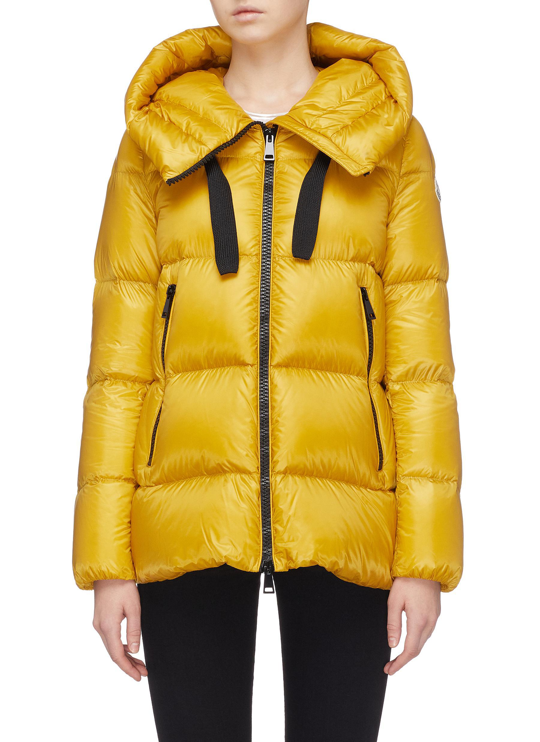 afc522a1c Lyst - Moncler  serin  Hooded Down Puffer Jacket in Yellow