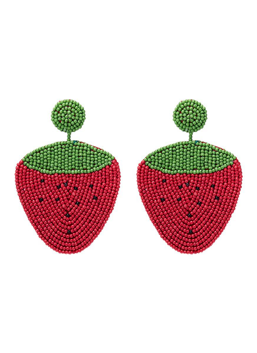 deviantart studs cute earring polymer strawberry stud by clay art on linnypig