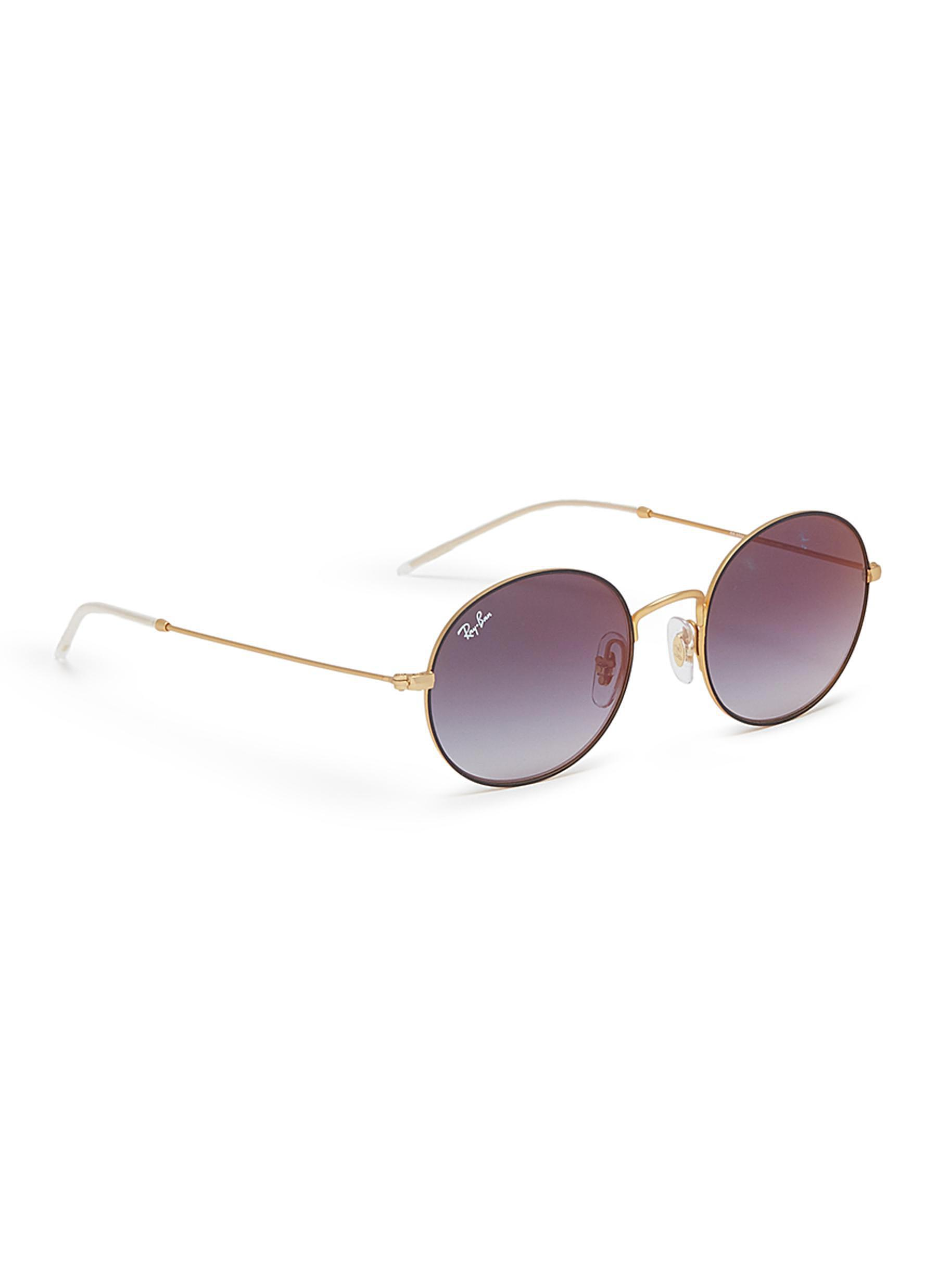 45173de2fe Lyst - Ray-Ban  rb3594  Metal Oval Sunglasses in Gray