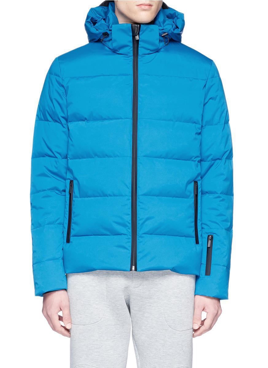 Lyst Fendi Bag Bugs Patch Down Puffer Jacket In Blue