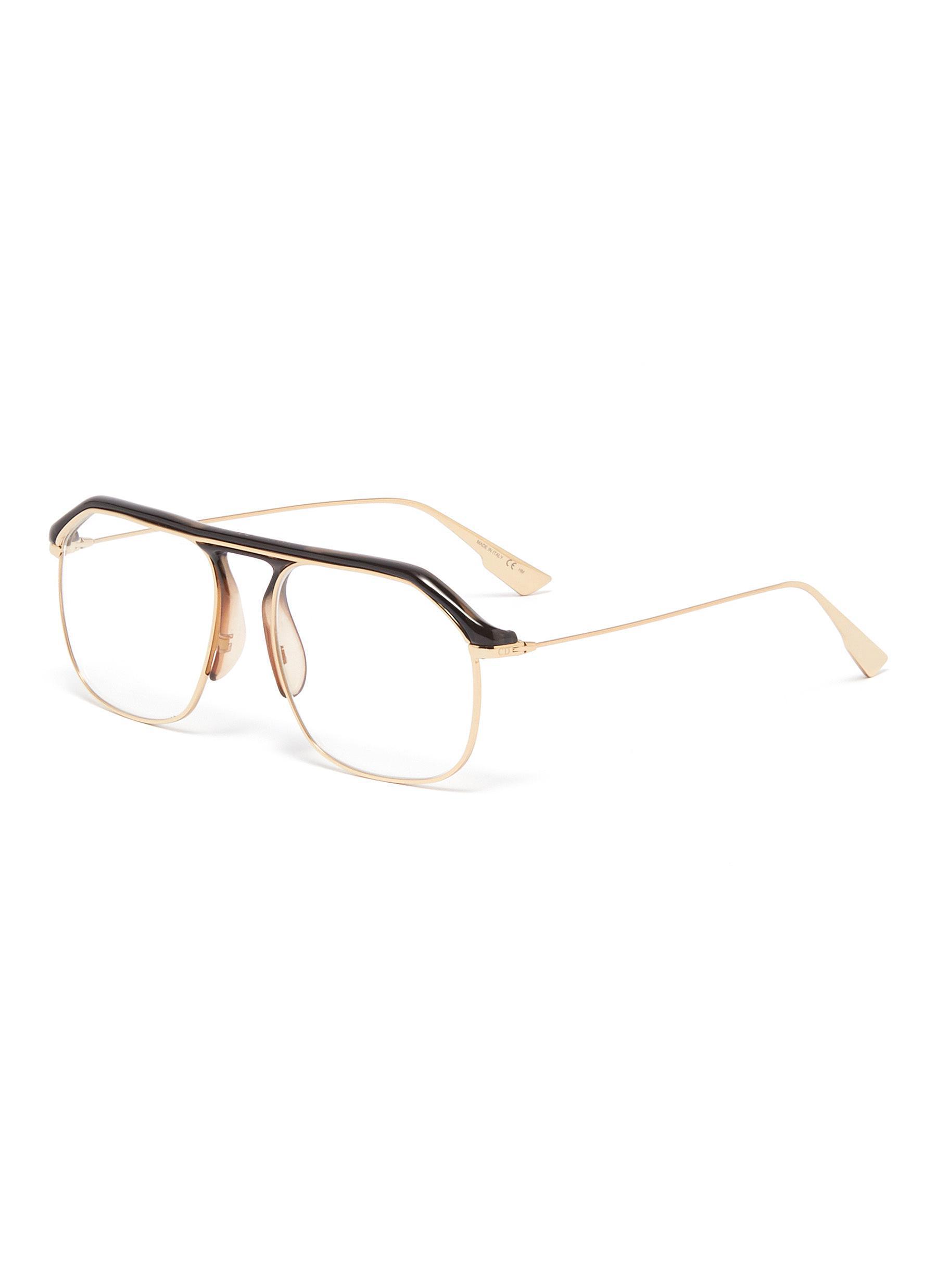 e5a4ef02e8e Dior. Men s   Stellairev  Acetate Top Bar Metal Square Optical Glasses