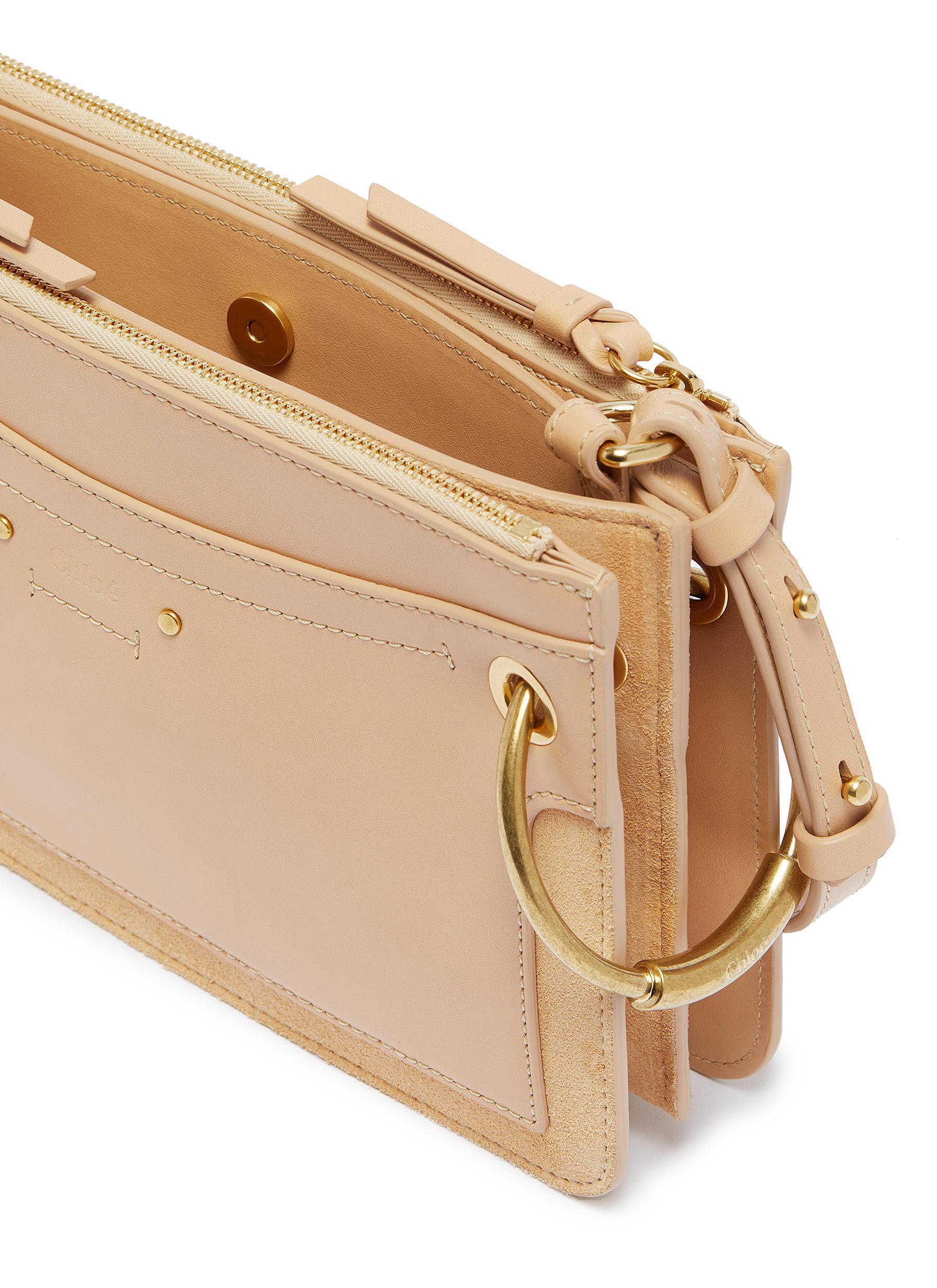 6dcd90c3e Chloé - Multicolor 'roy' Ring Suede Panel Mini Leather Crossbody Bag -  Lyst. View fullscreen