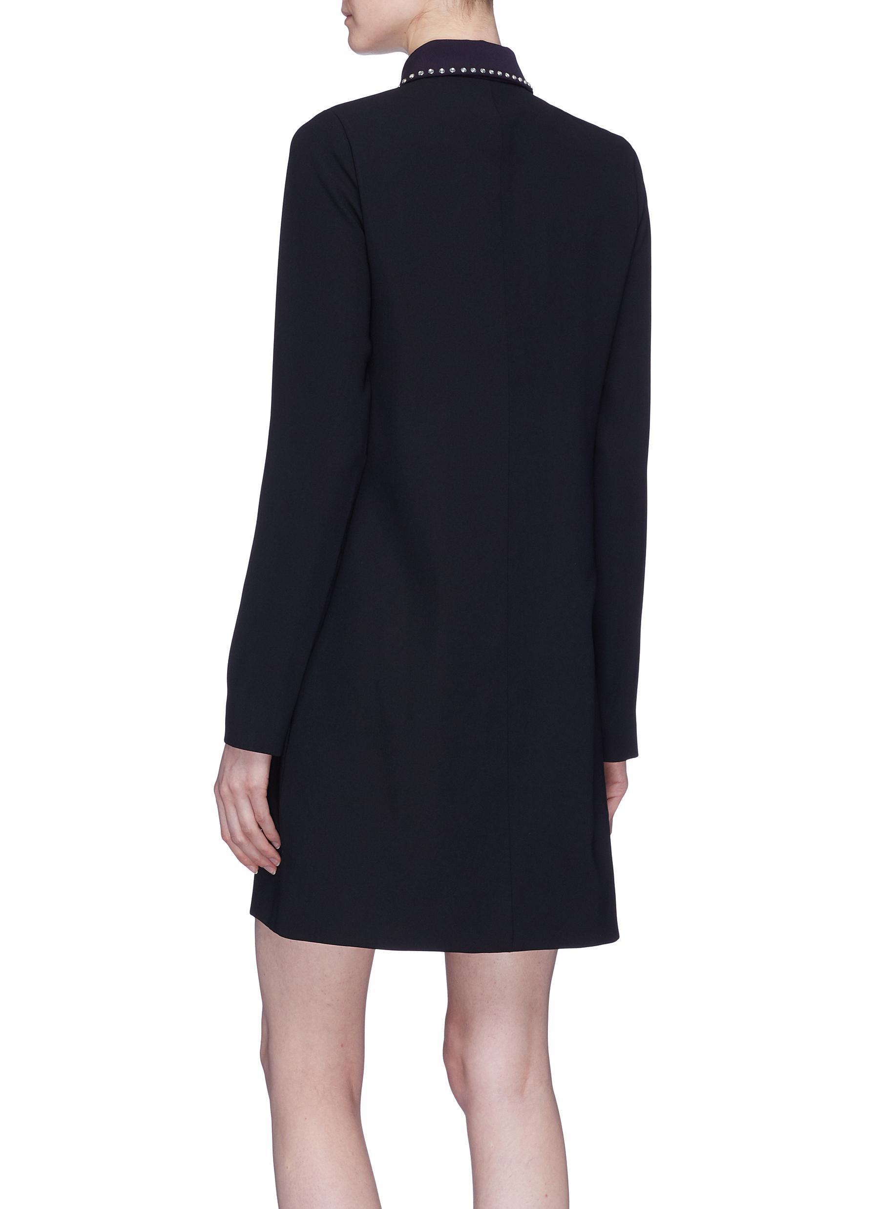 Robe chemise de trou de serrure clout victoria beckham for Black studs for dress shirt