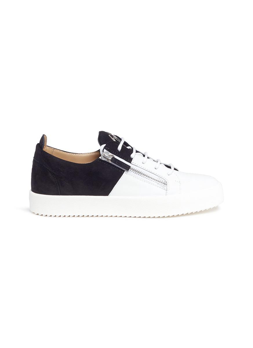 0efbab60e970 Giuseppe Zanotti  double  Leather And Suede Sneakers for Men - Lyst