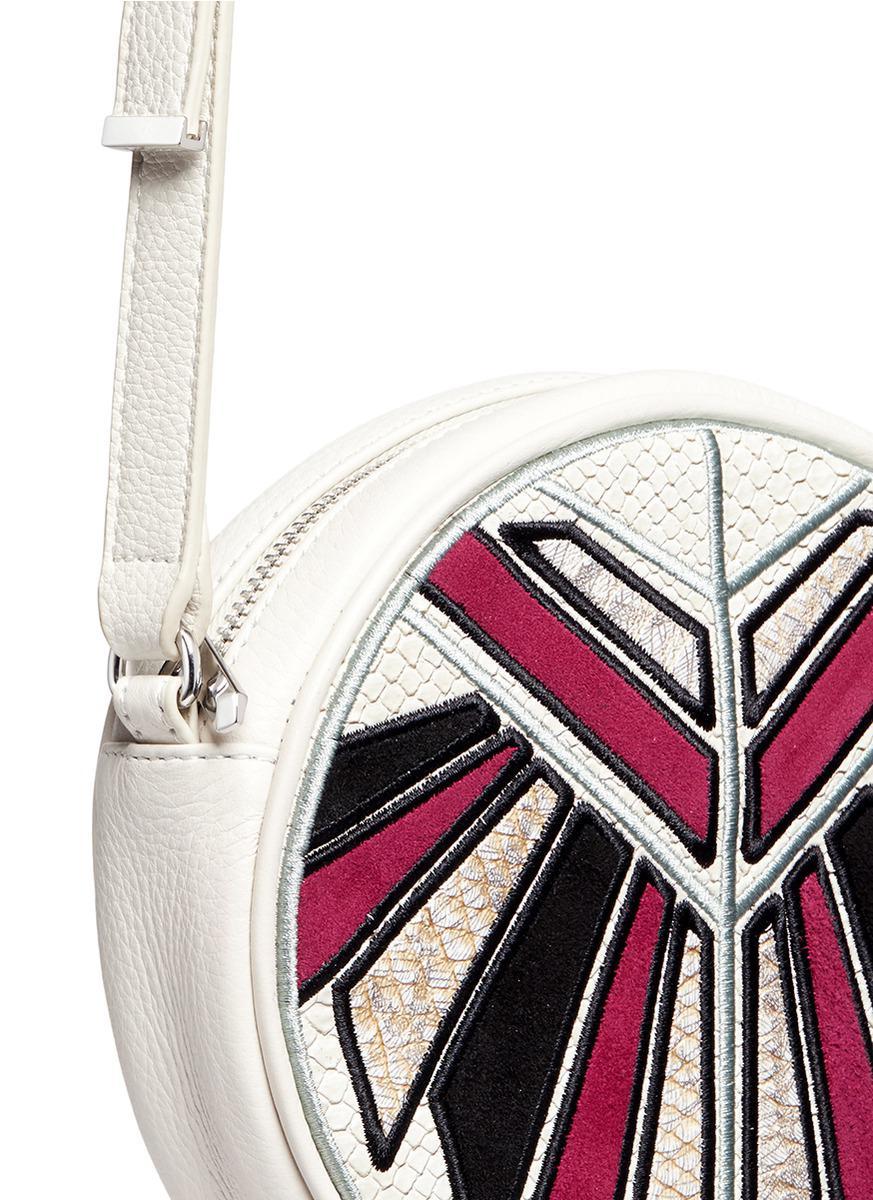 559798458 Lyst - Sam Edelman  joey  Embossed Patch Tassel Leather Crossbody Bag