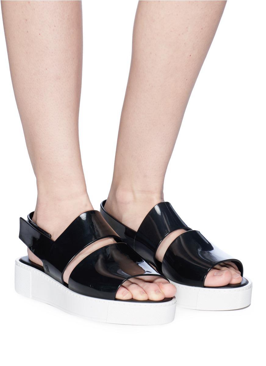 7eb7e1507b8 Lyst - Melissa  soho  Slingback Platform Sandals