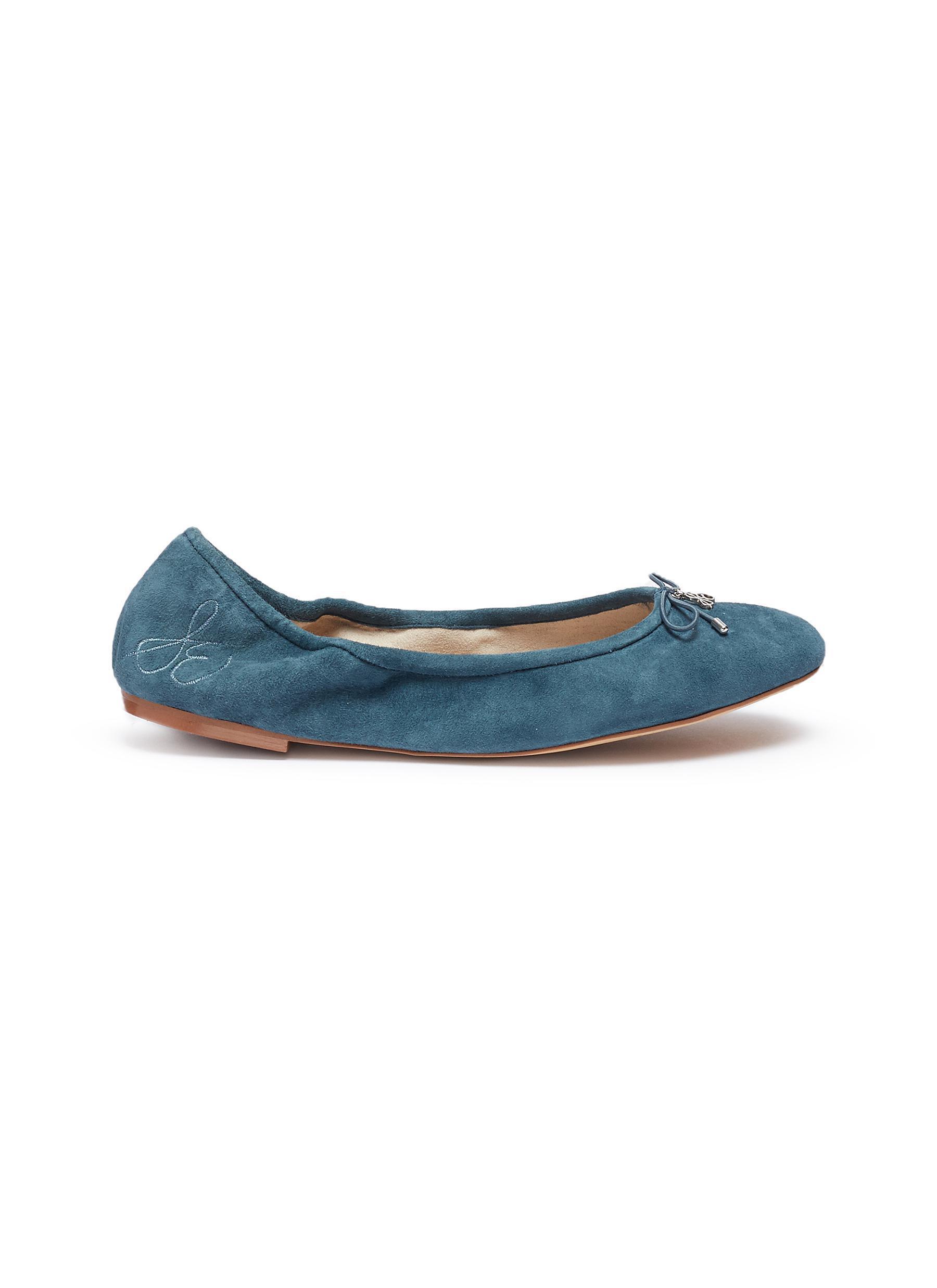 46a2b3f31aa665 Lyst - Sam Edelman  felicia  Suede Ballet Flats in Blue