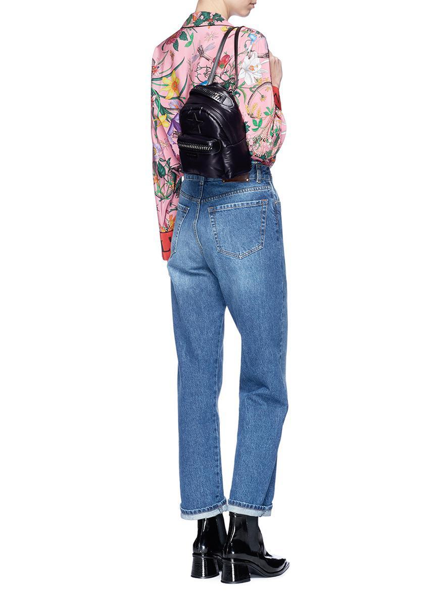 388b655f01 Lyst - Stella McCartney  falabella Go  Star Patch Mini Backpack in Black